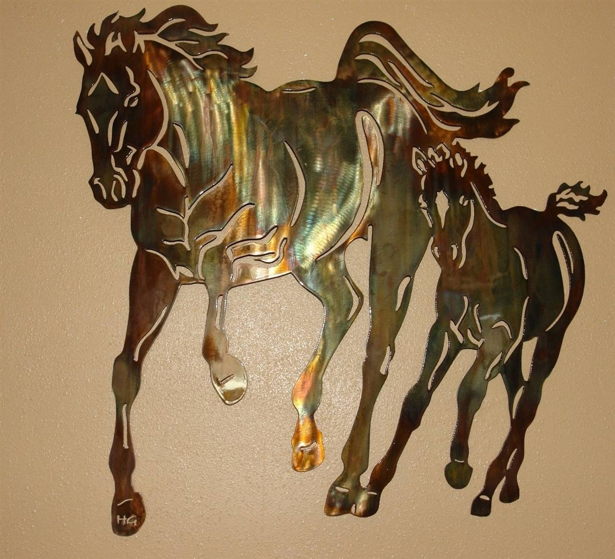 Momandme 2 For Most Recent Horse Metal Wall Art (View 11 of 20)