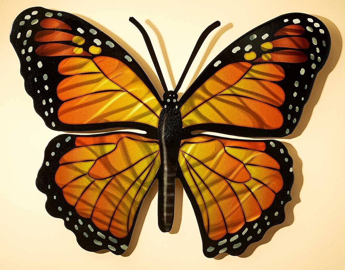 Monarch Butterfly Metal Wall Art | Wild Wings Within 2018 Butterfly Metal Wall Art (View 15 of 20)