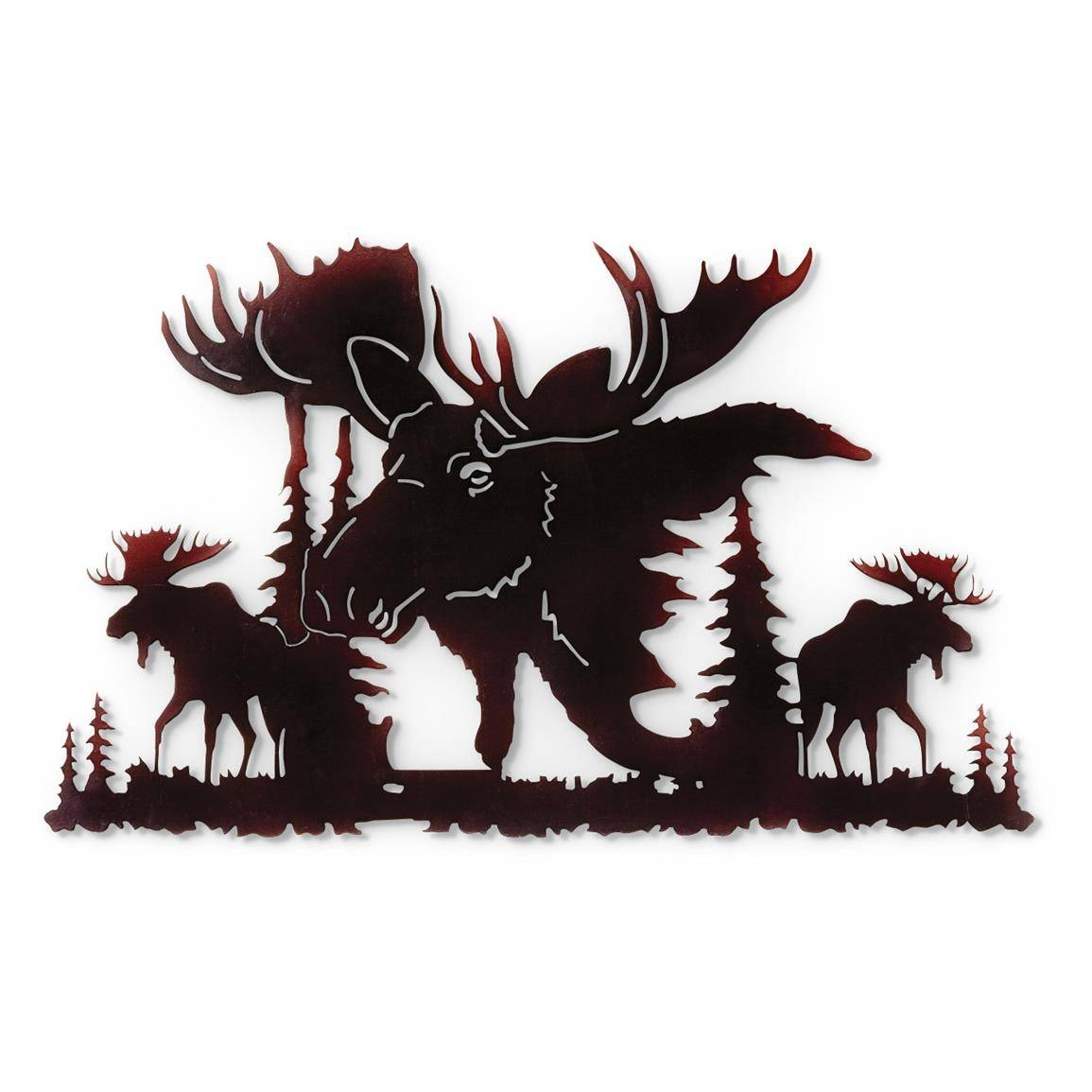 Moose Metal Wall Art – 648667, Wall Art At Sportsman's Guide Within 2017 Elk Metal Wall Art (View 11 of 20)