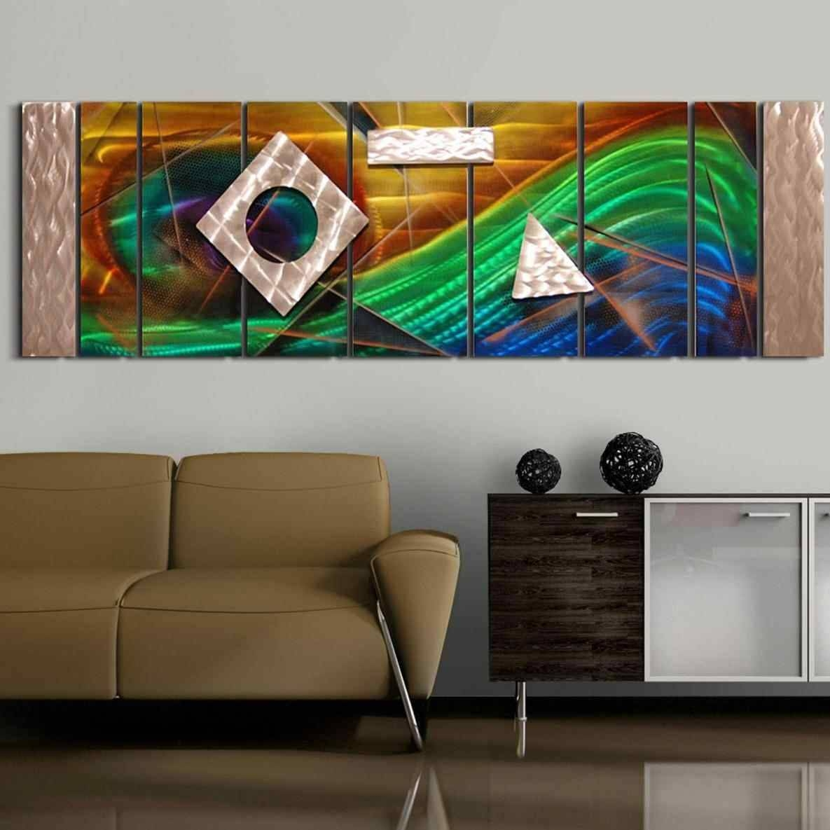 Multi Color Metal Wall Art | Home Interior Decor Inside Most Up To Date Multi Color Metal Wall Art (View 14 of 20)