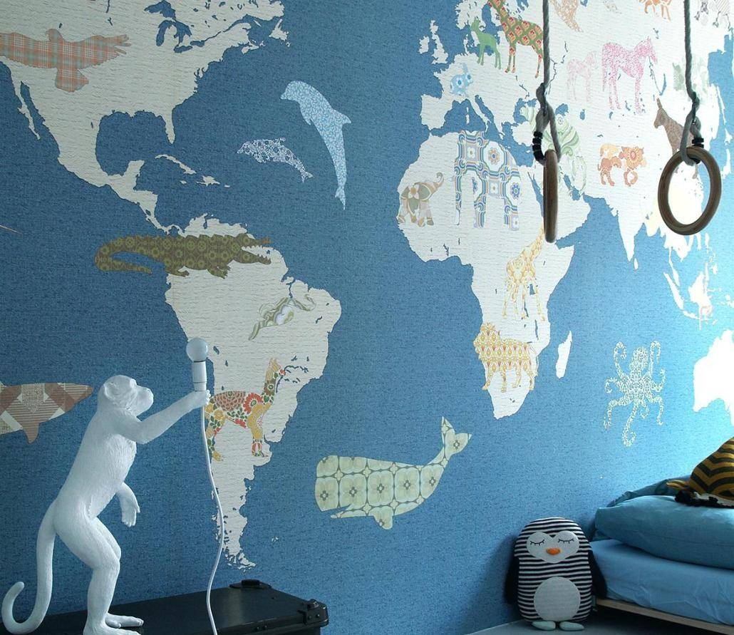 Mural : World Maps Amazing Map Mural Diy World Map Wall Art Intended For Current Philadelphia Map Wall Art (View 18 of 20)