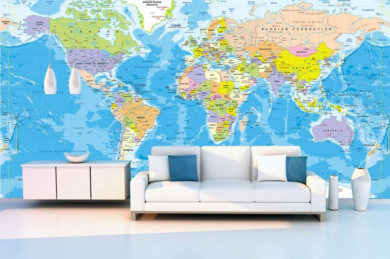 Mural : World Maps Amazing Map Mural Diy World Map Wall Art Pertaining To Most Up To Date Europe Map Wall Art (View 9 of 20)