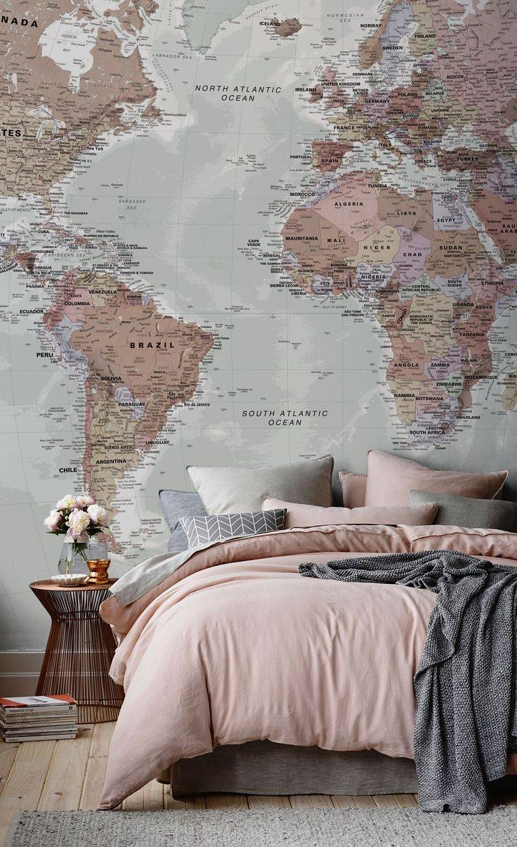 Mural : World Maps Amazing Map Mural Diy World Map Wall Art With Regard To Newest Europe Map Wall Art (View 16 of 20)