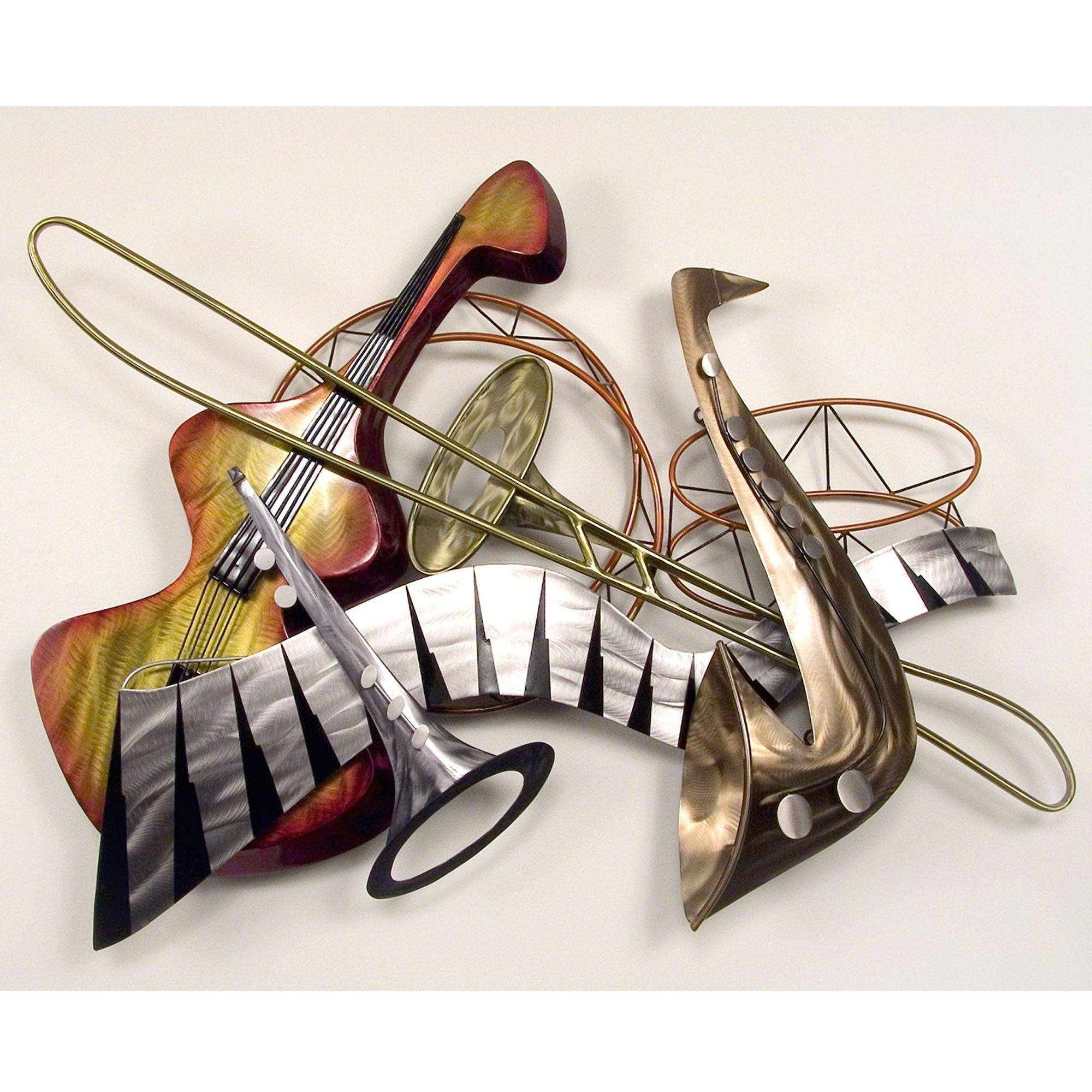Music Metal Wall Sculptures | Touch Of Class With Best And Newest Jazz Metal Wall Art (View 10 of 20)