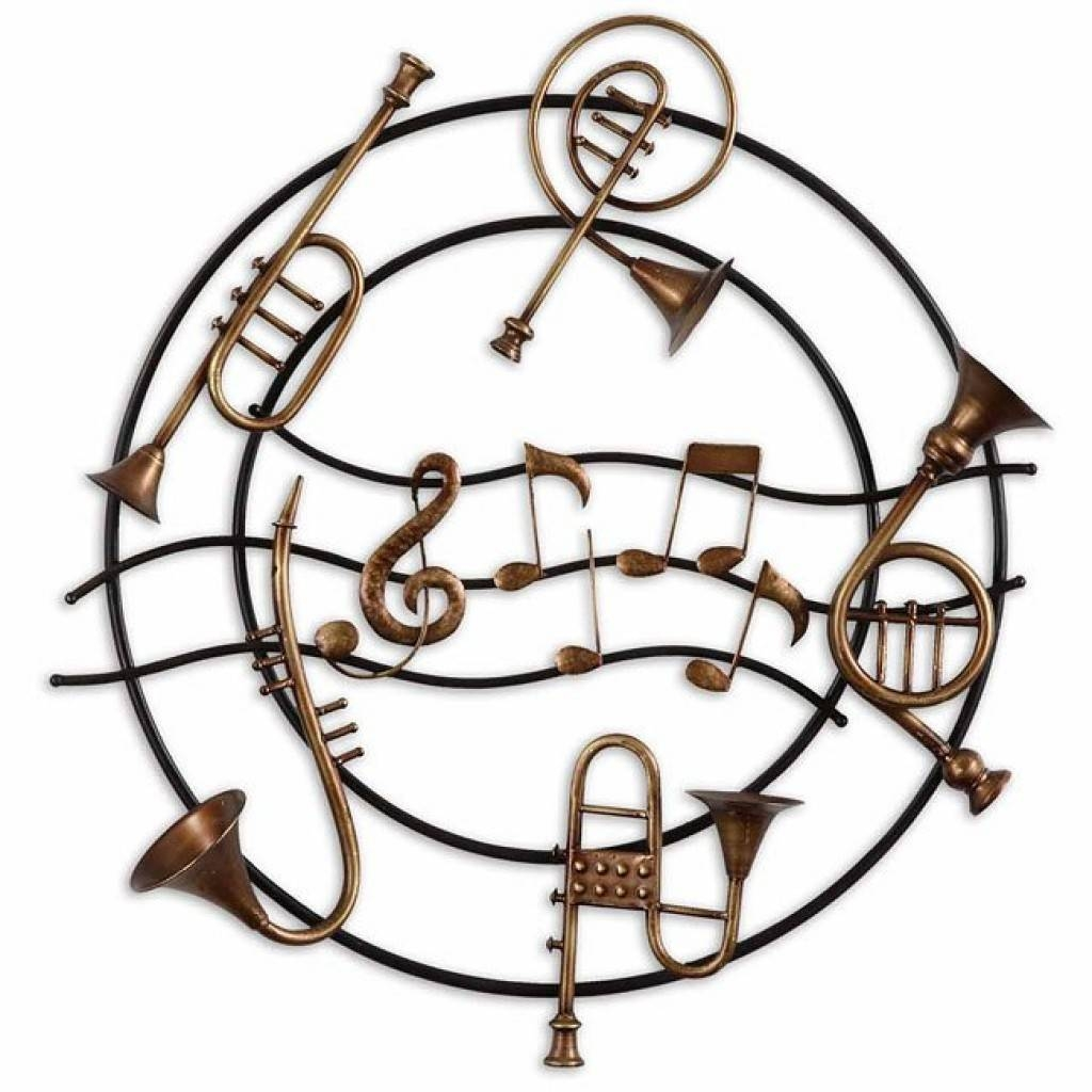 Musical Instruments Metal Wall Art Uttermost | Furniture Cart In 2017 Musical Instruments Metal Wall Art (View 14 of 20)