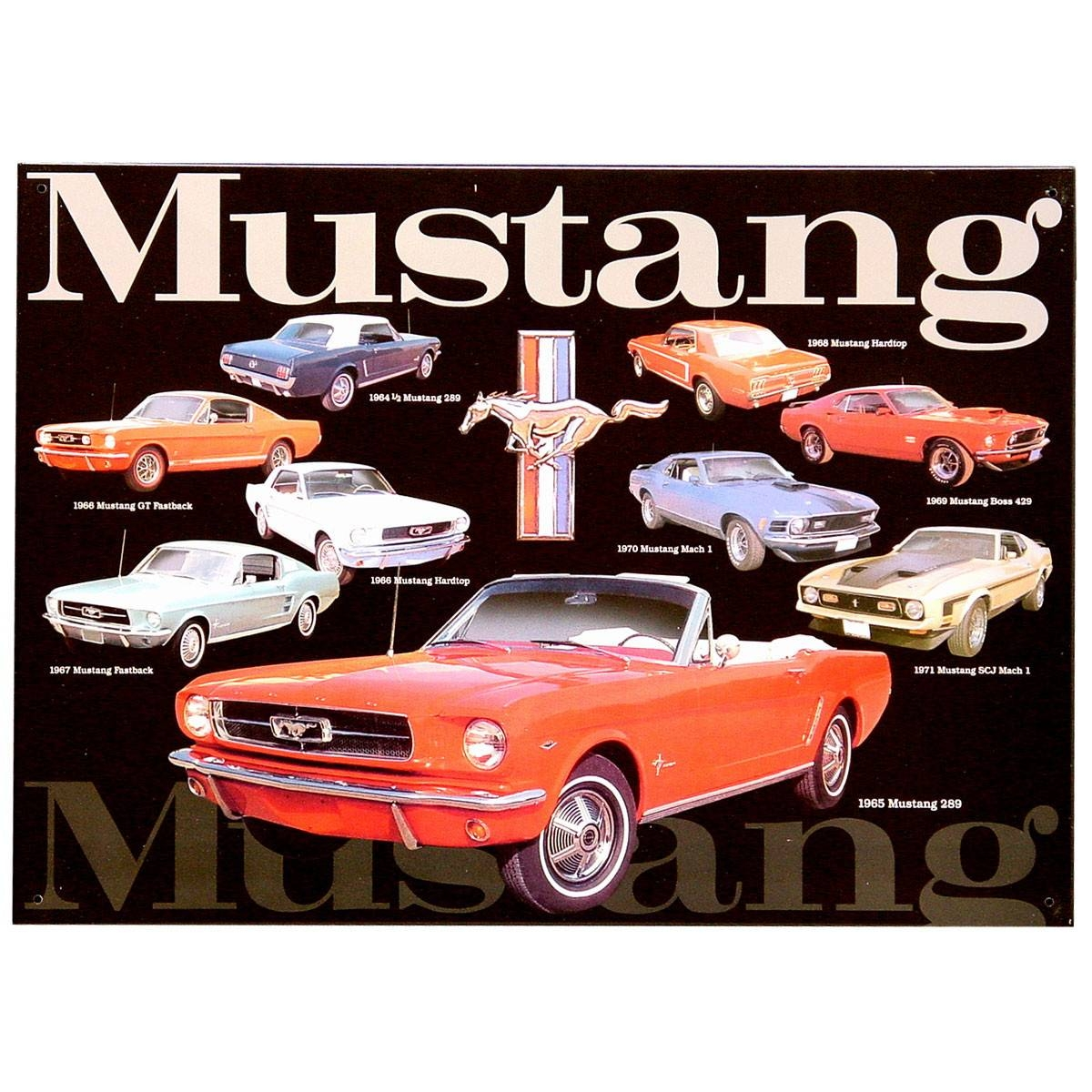 Mustang Collage Metal Sign | Ford Garage Signs | Retroplanet With Regard To Latest Ford Mustang Metal Wall Art (View 10 of 20)