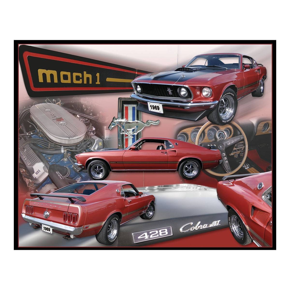 Mustang Mach 1 Metal Sign | Ford Garage Signs | Retroplanet Pertaining To Best And Newest Ford Mustang Metal Wall Art (View 13 of 20)