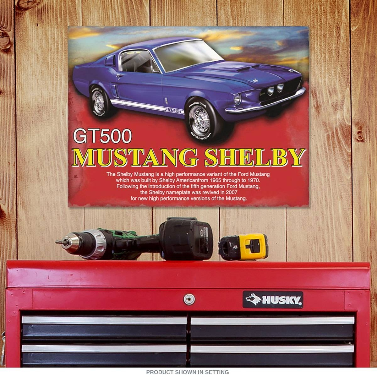 Mustang Shelby Gt500 Metal Sign | Ford Automotive Decor In Newest Ford Mustang Metal Wall Art (View 15 of 20)