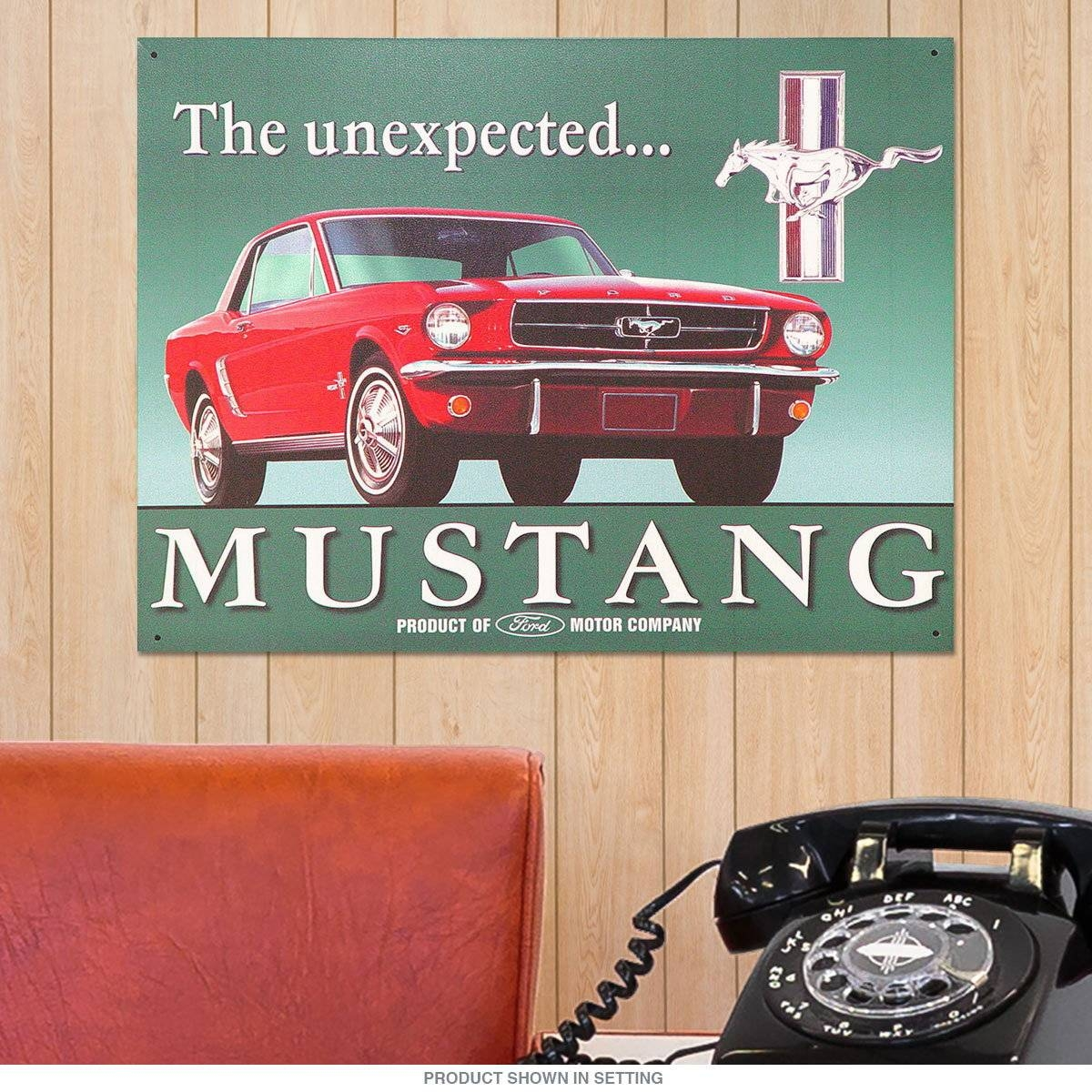Mustang The Unexpected Metal Sign | Ford Automotive Signs Inside Most Popular Ford Mustang Metal Wall Art (View 13 of 20)