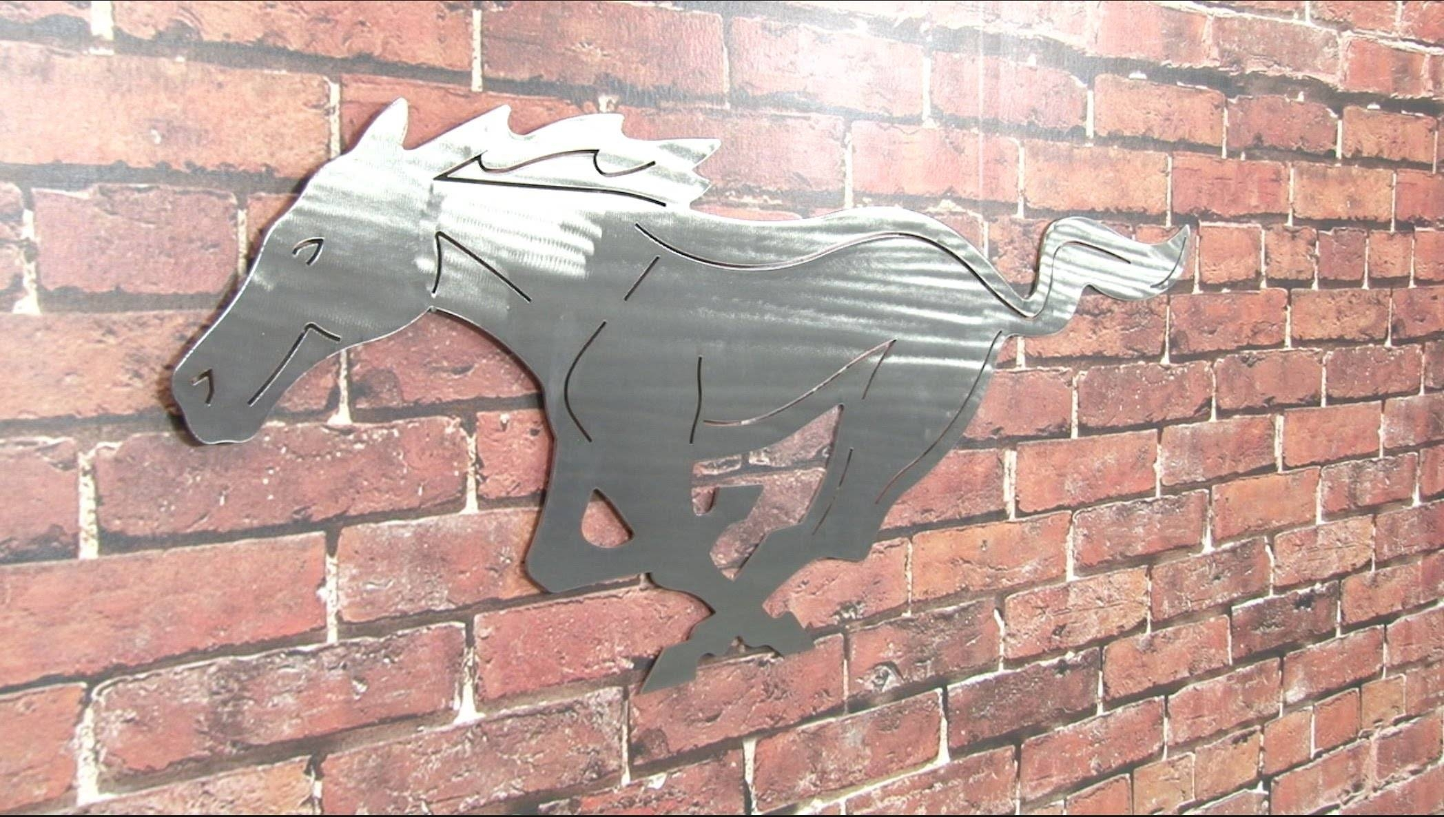 "Mustang Wall Hanging Running Pony 36"" Large – Youtube For Best And Newest Ford Mustang Metal Wall Art (View 6 of 20)"