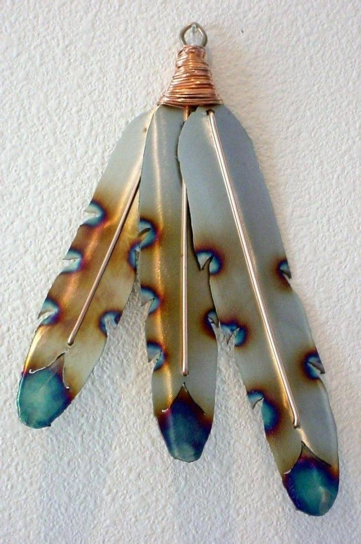 Native American Indian Style Metal Feathers Steel Wall Art | Digs For 2017 Native American Metal Wall Art (View 8 of 20)