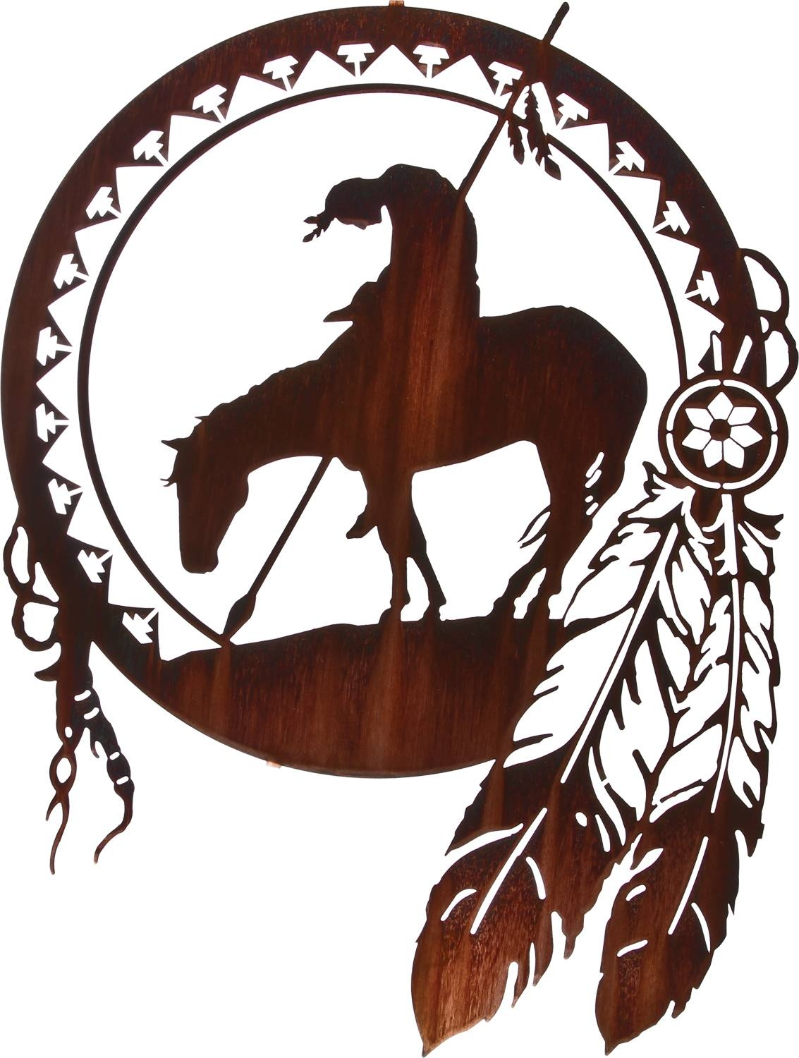 Native American Indian Wall Art, Indian Wall Hangings for Recent Native American Metal Wall Art
