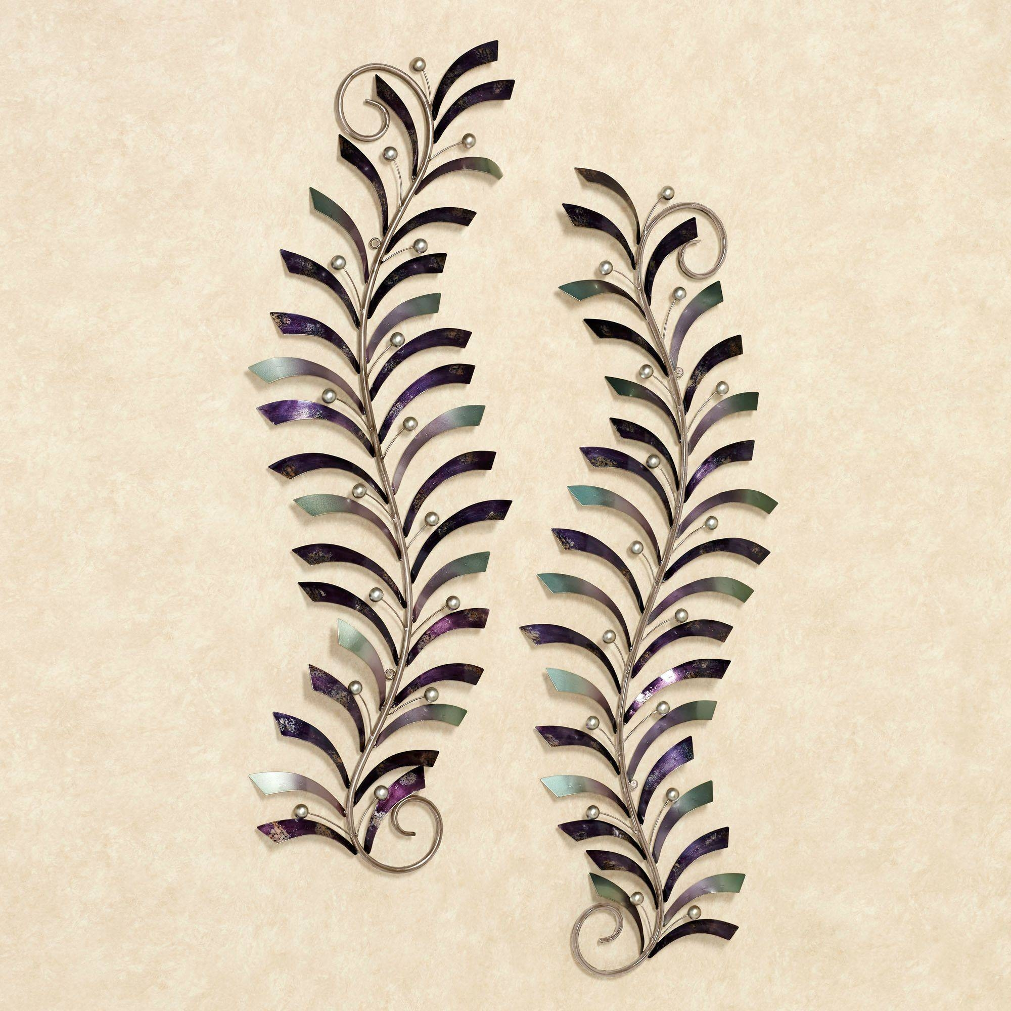 Natures Dance Fern Leaf Metal Wall Art Set with Most Recently Released Metal Wall Art Dancers