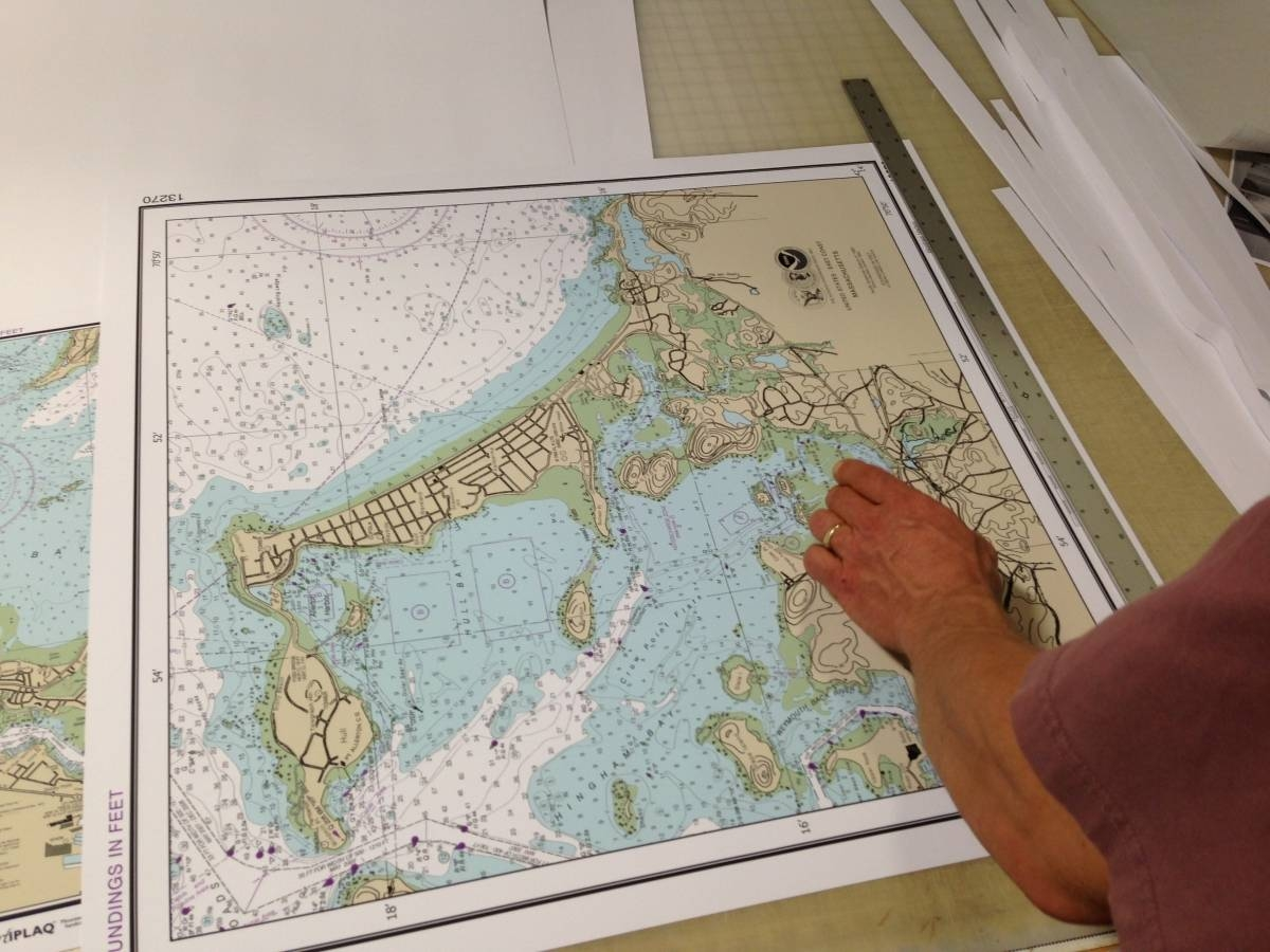 Nautical Charts | Artiplaq Pertaining To 2018 Nautical Map Wall Art (View 3 of 20)