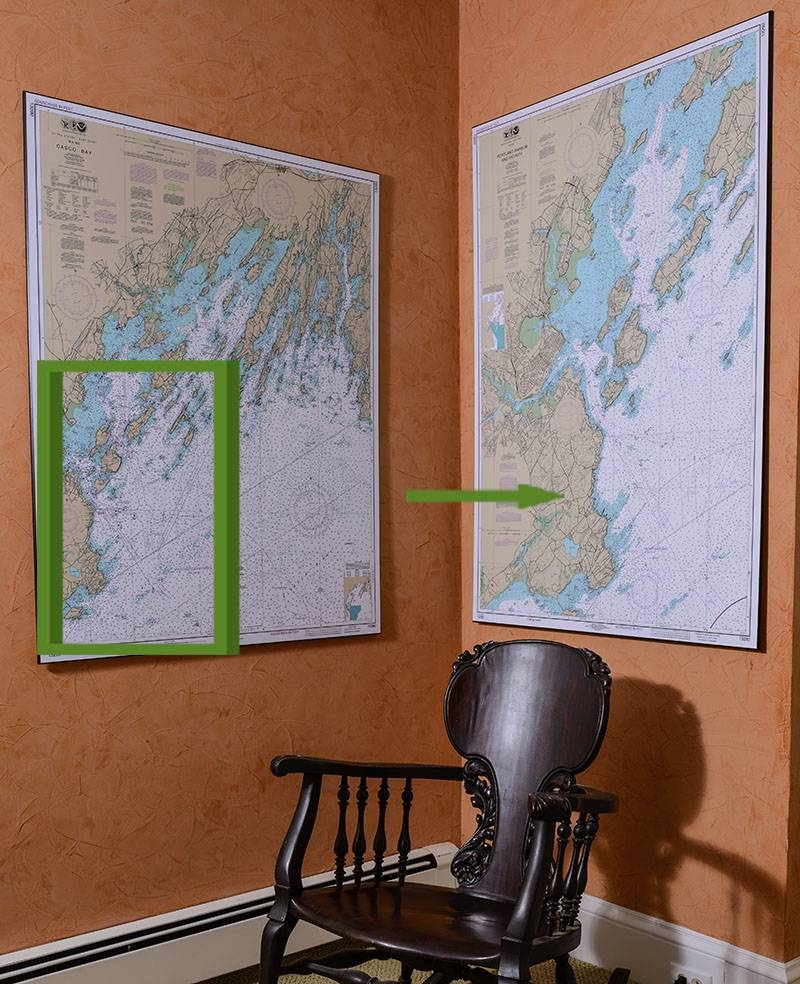 Nautical Charts | Artiplaq Pertaining To Current Nautical Map Wall Art (View 11 of 20)