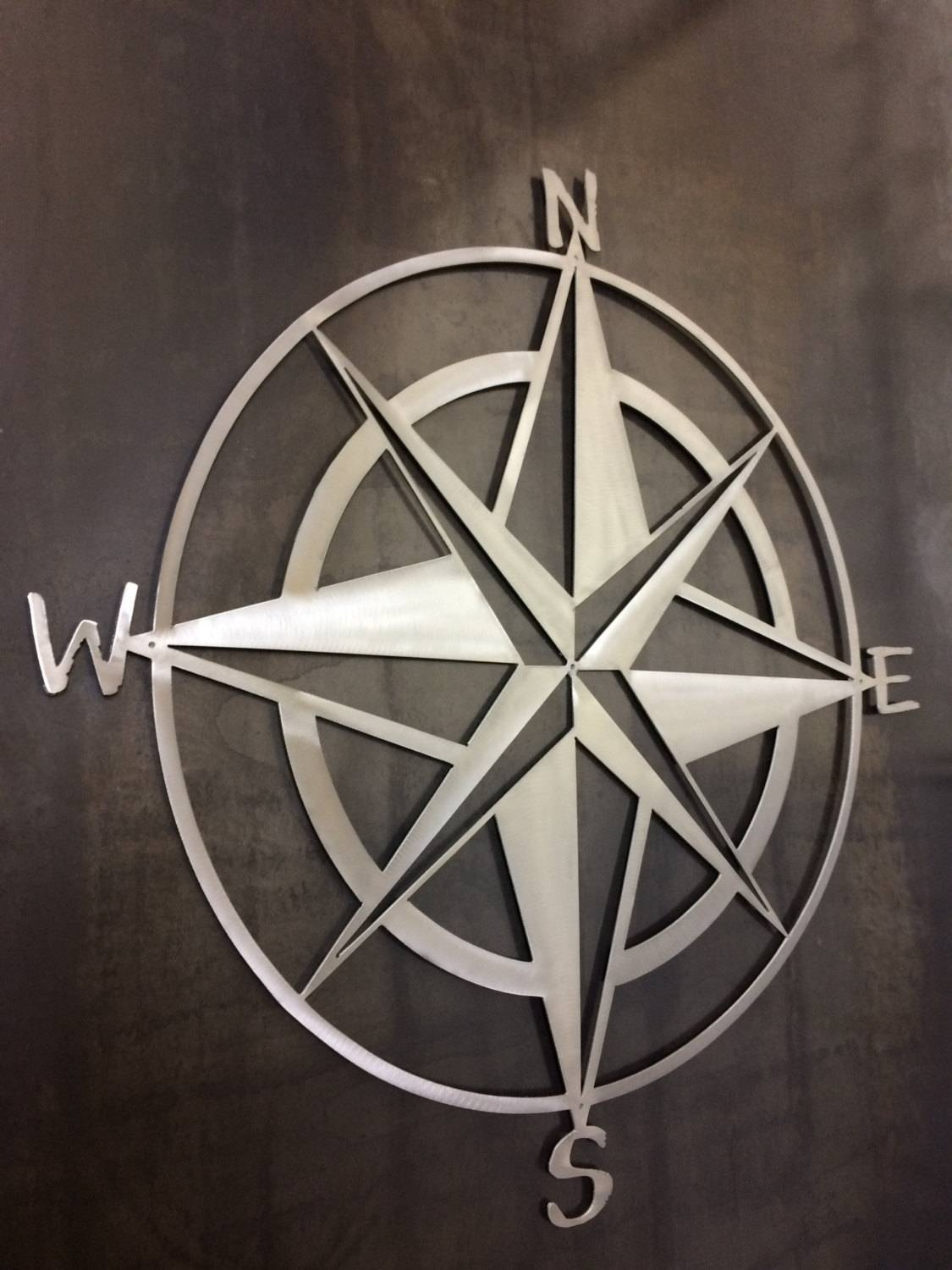 Nautical Star And Compass Metal Wall Art And Home Within Best And Newest Nautical Metal Wall Art (View 8 of 20)