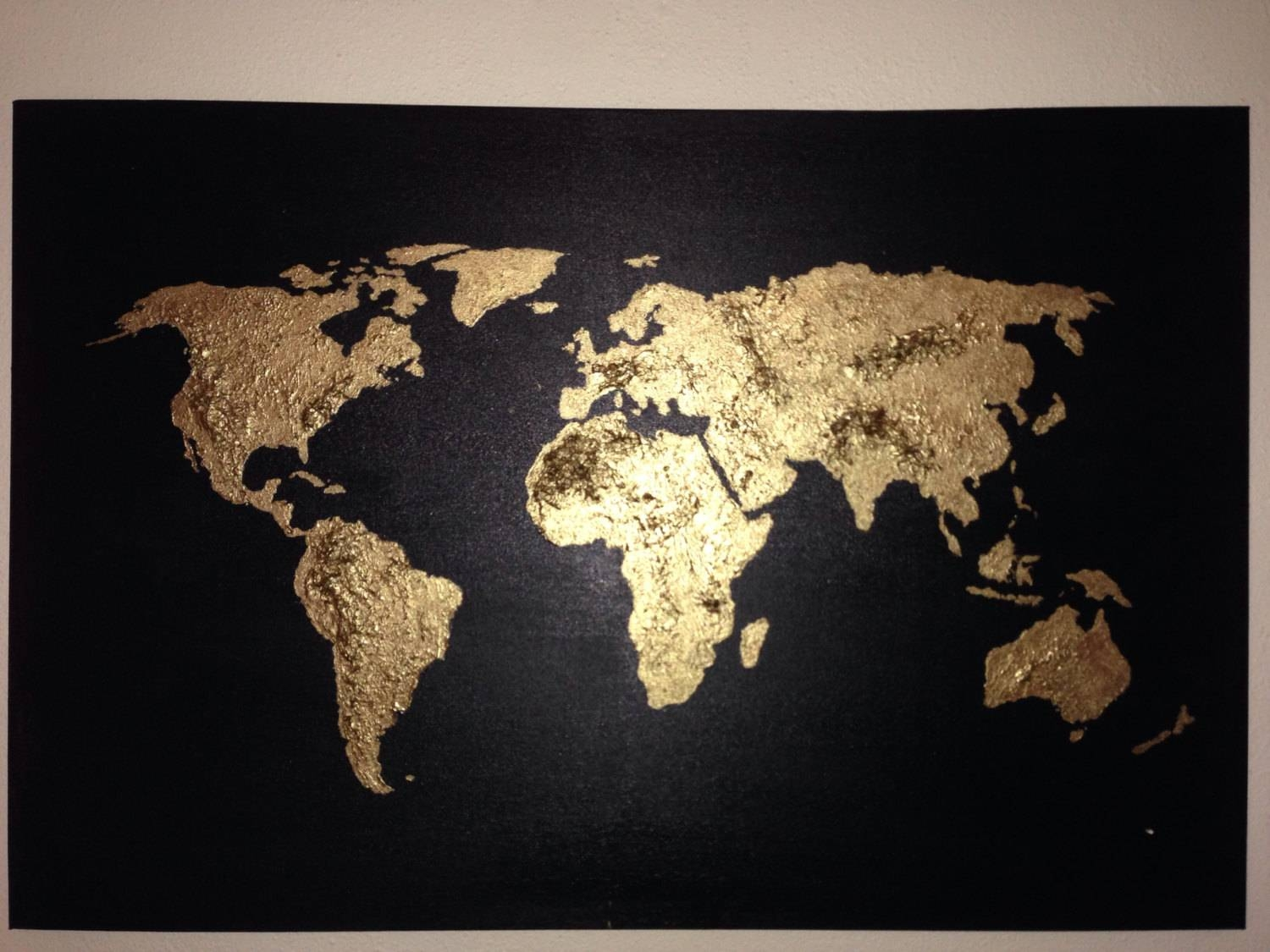 Navy World Map Wall Art Canvas World Map Print In Blue For Intended For Most Popular World Map Wall Art Canvas (View 13 of 20)
