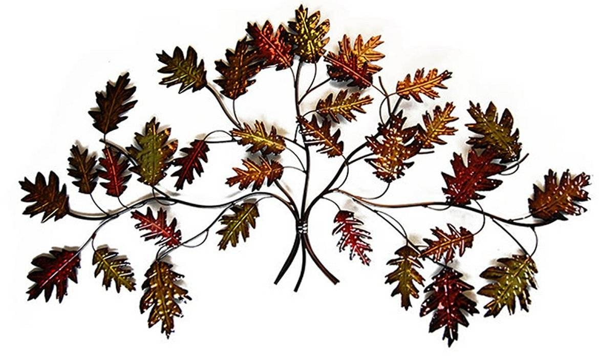 New – Contemporary Metal Wall Art Decor Sculpture – Autumn Leaf Regarding Latest Metal Wall Art Trees And Leaves (View 6 of 20)
