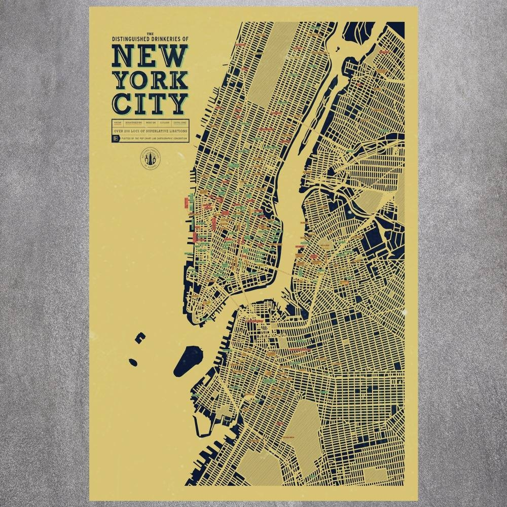 New York City Map Canvas Art Print Painting Poster Wall Pictures In Most Current Nyc Map Wall Art (View 4 of 20)