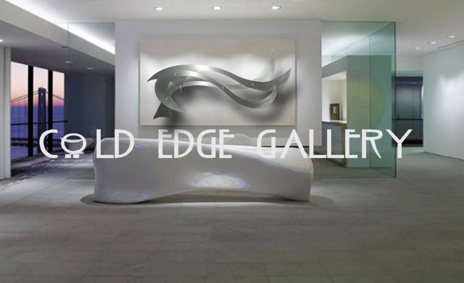 Ocean Breeze Large Metal Wall Art Corporate Wall Art Extra Within Most Current Giant Metal Wall Art (Gallery 3 of 20)