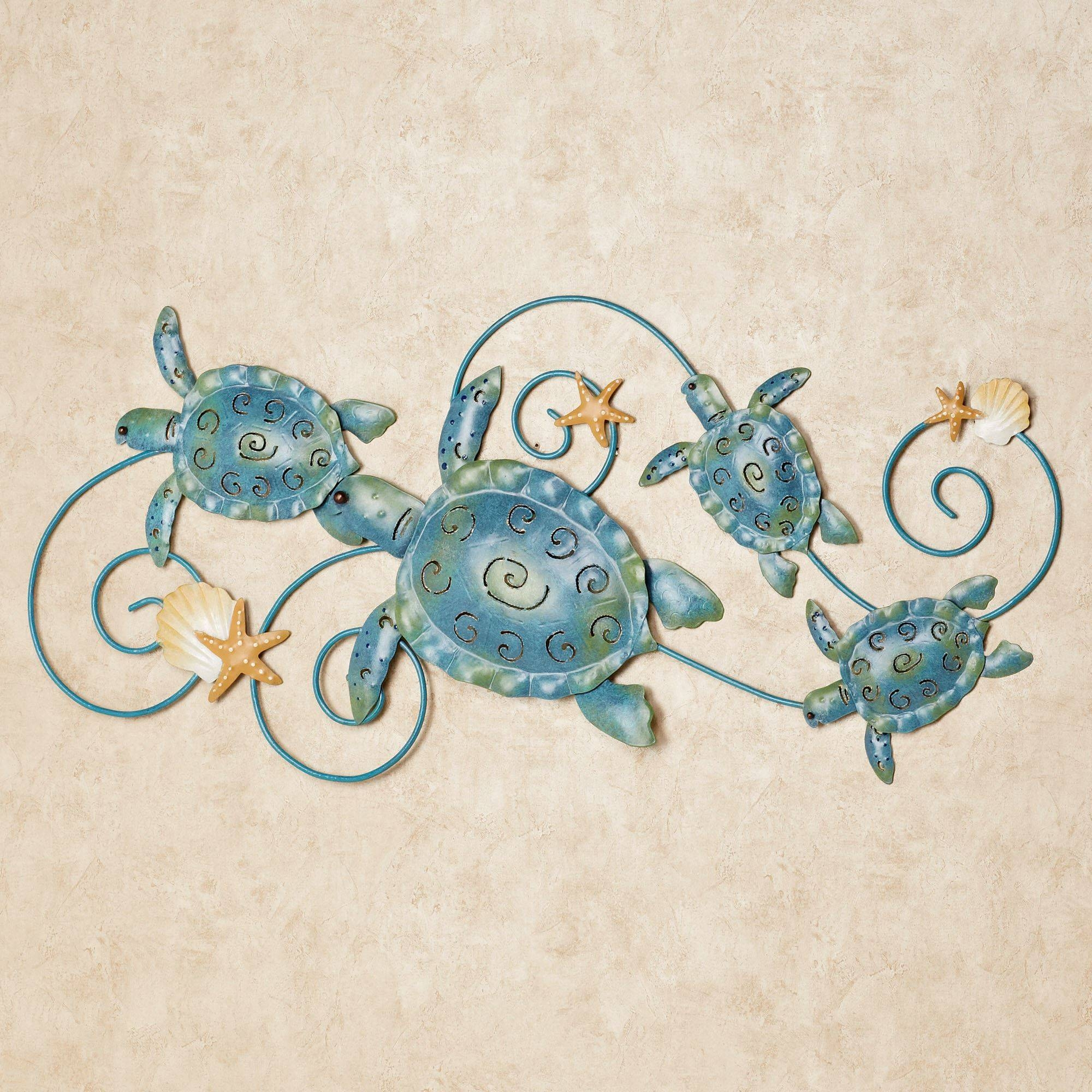 Ocean Friends Sea Turtle Metal Wall Art Intended For Most Current Teal Metal Wall Art (Gallery 10 of 20)