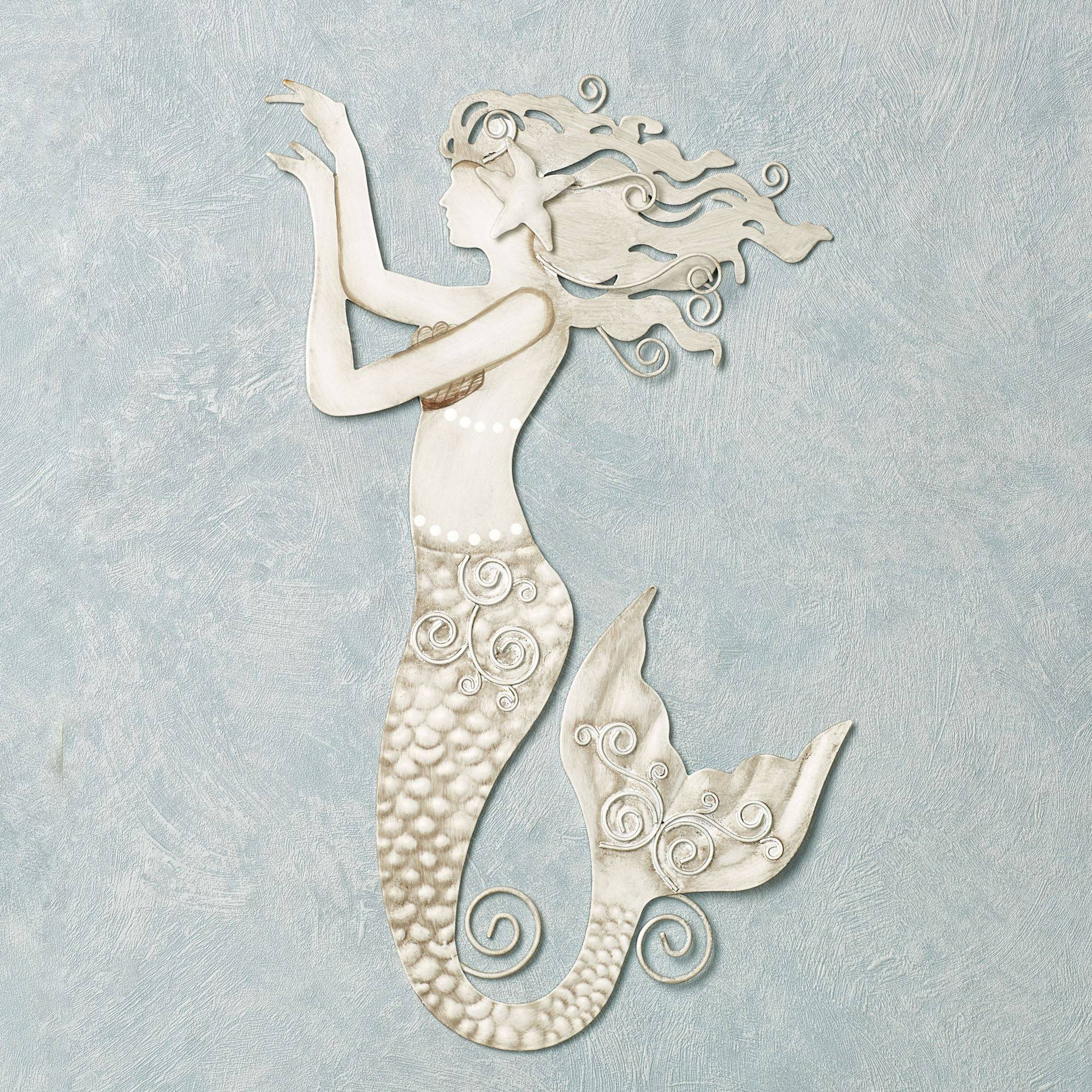Ocean Mermaid Coastal Home Accents | Touch Of Class In Newest Mermaid Metal Wall Art (View 18 of 20)