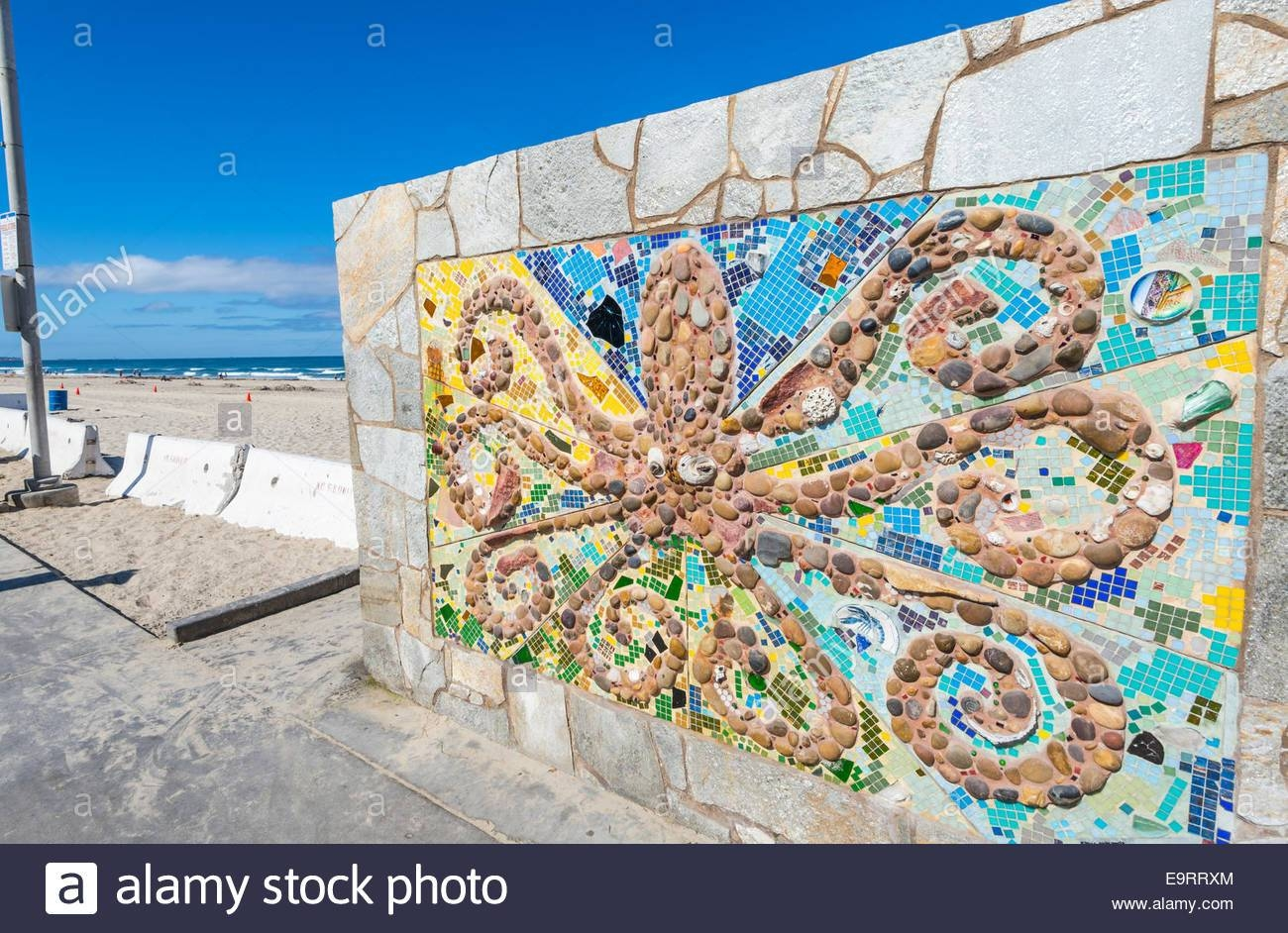 Octopus Wall Art. Located Next To The Pacific Beach Lifeguard With Regard To Best And Newest San Diego Map Wall Art (Gallery 14 of 20)