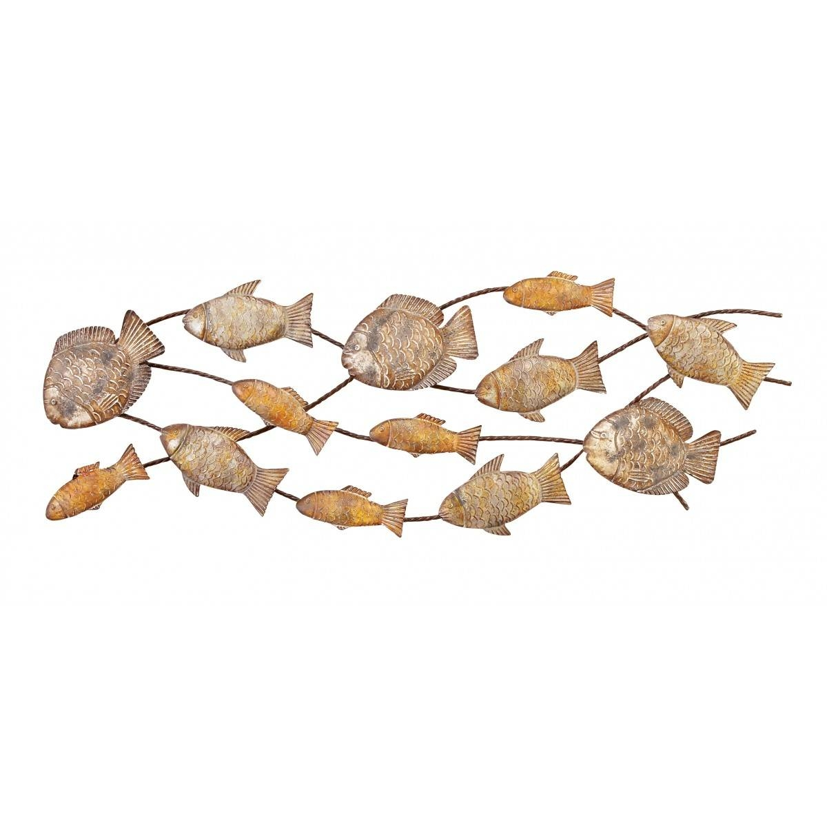 Of Fish Metal Wall Art With Regard To Latest School Of Fish Metal Wall Art (View 11 of 20)