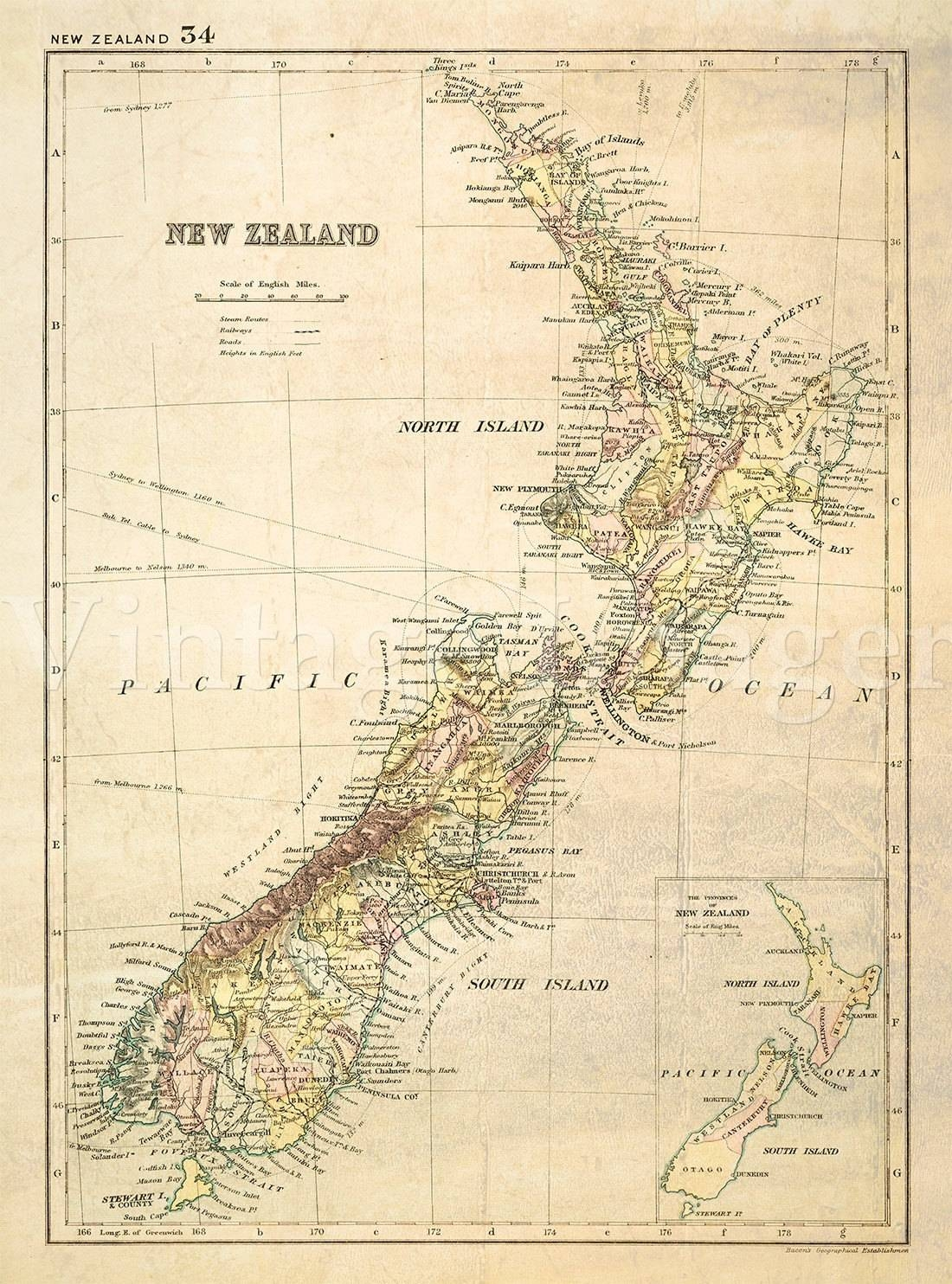 Old New Zealand Map (1881) – Mapsroom | Mapsroom Pertaining To Most Popular New Zealand Map Wall Art (View 15 of 20)