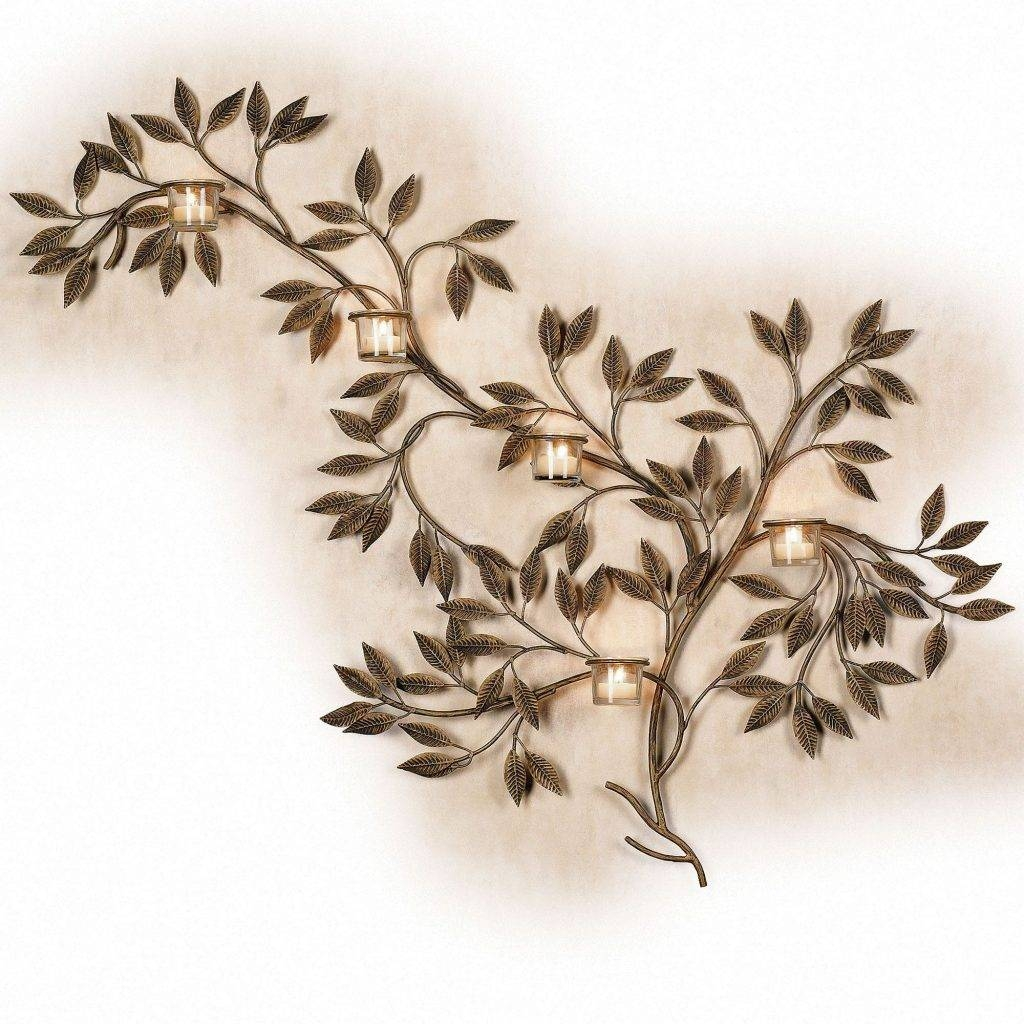 Opulent Ideas Candle Wall Art Holders Decor Large Nz Holder Tree For 2017 Metal Wall Art With Candles (View 12 of 20)
