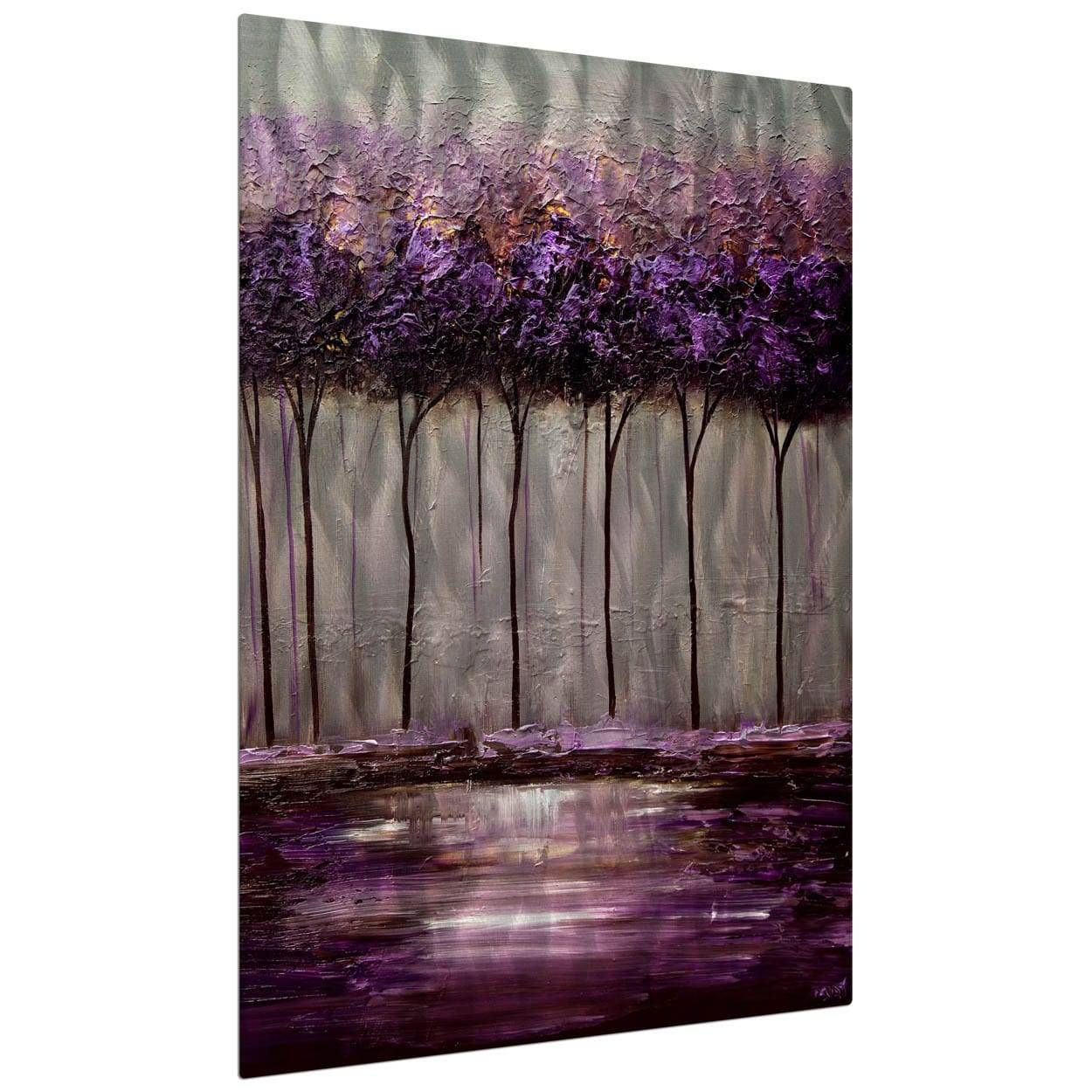 Osnat 'purple Scent 1' Metal Wall Art – Free Shipping Today For Recent Overstock Metal Wall Art (Gallery 16 of 20)