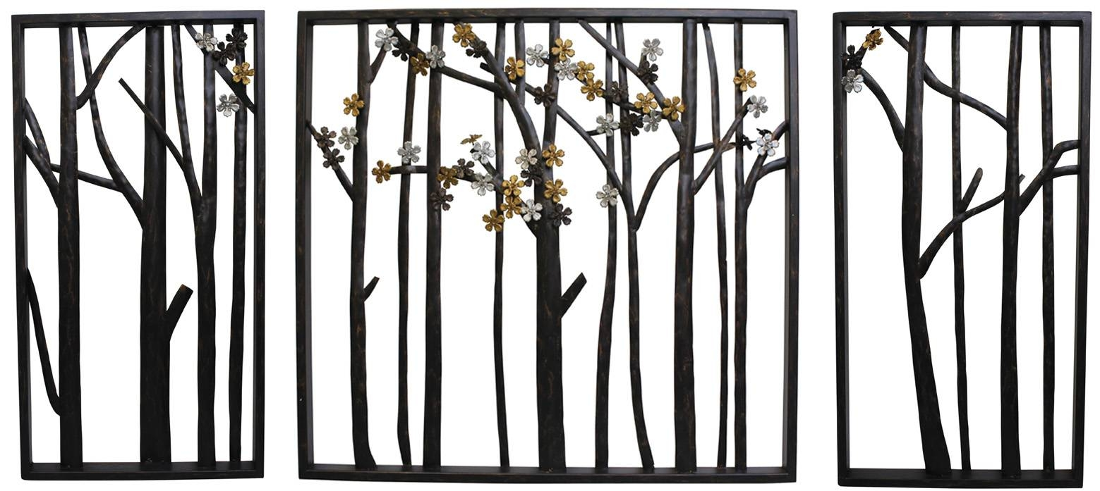 Outdoor Garden Wall Ornaments Decorative Garden Wall Plaques Intended For Latest Iron Metal Wall Art (View 8 of 20)