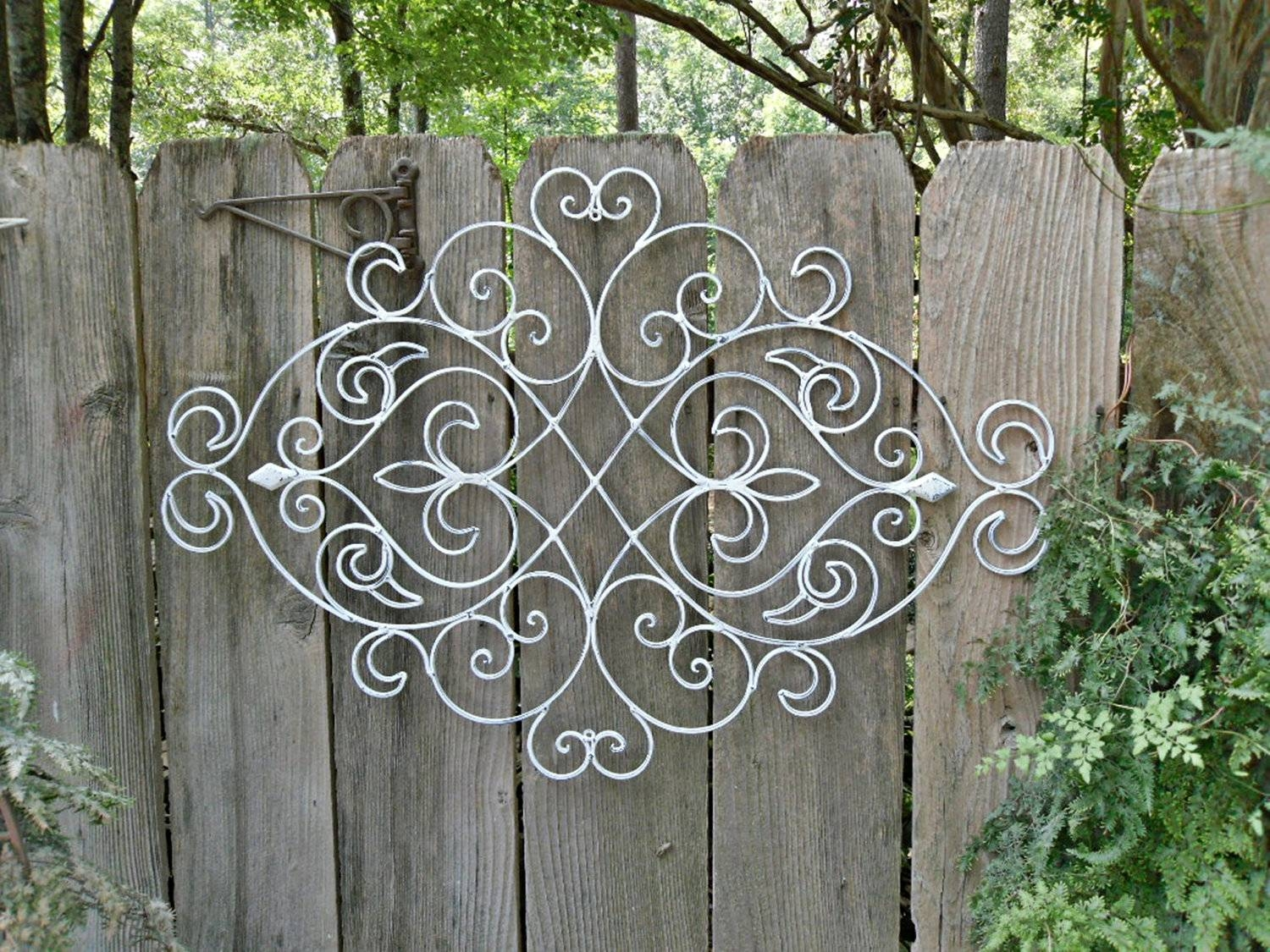 Outdoor Metal Wall Art Design Ideas | Indoor & Outdoor Decor with regard to Newest White Metal Wall Art