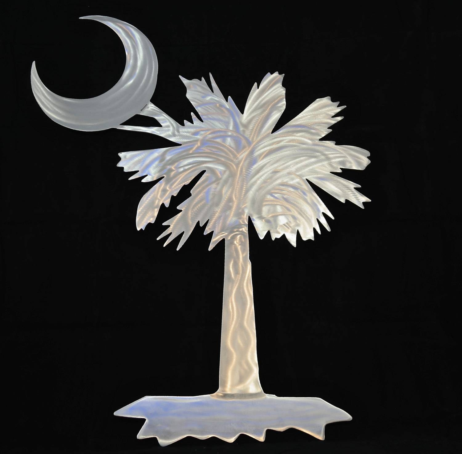 Outdoor Metal Wall Art Palmetto Tree Wall Art Palmetto Tree Throughout Most Popular Moon Outdoor Metal Wall Art (View 3 of 20)