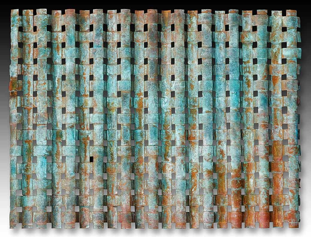 Outdoor Metal Wall Art Weaving > Outdoor Copper Wall Art > Woven Metal Pertaining To Current Copper Metal Wall Art (View 11 of 20)