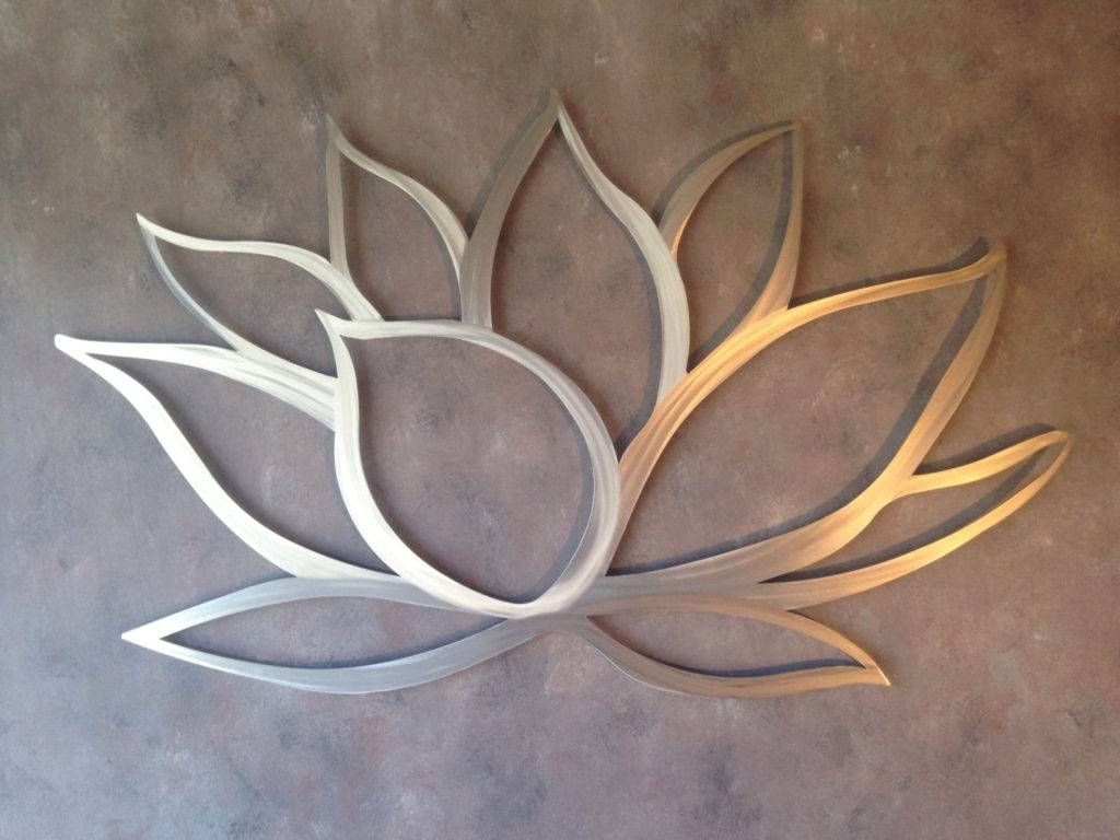 Outdoor Metal Wall Decor Ideas | Eva Furniture Regarding Newest Metal Wall Art Flowers (View 12 of 20)