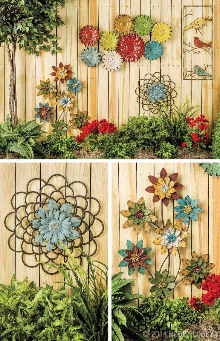 Outdoor Wall Murals For The Garden Metal Sun Wall Art Wrought Iron Intended For Best And Newest Metal Wall Art For Gardens (View 5 of 20)