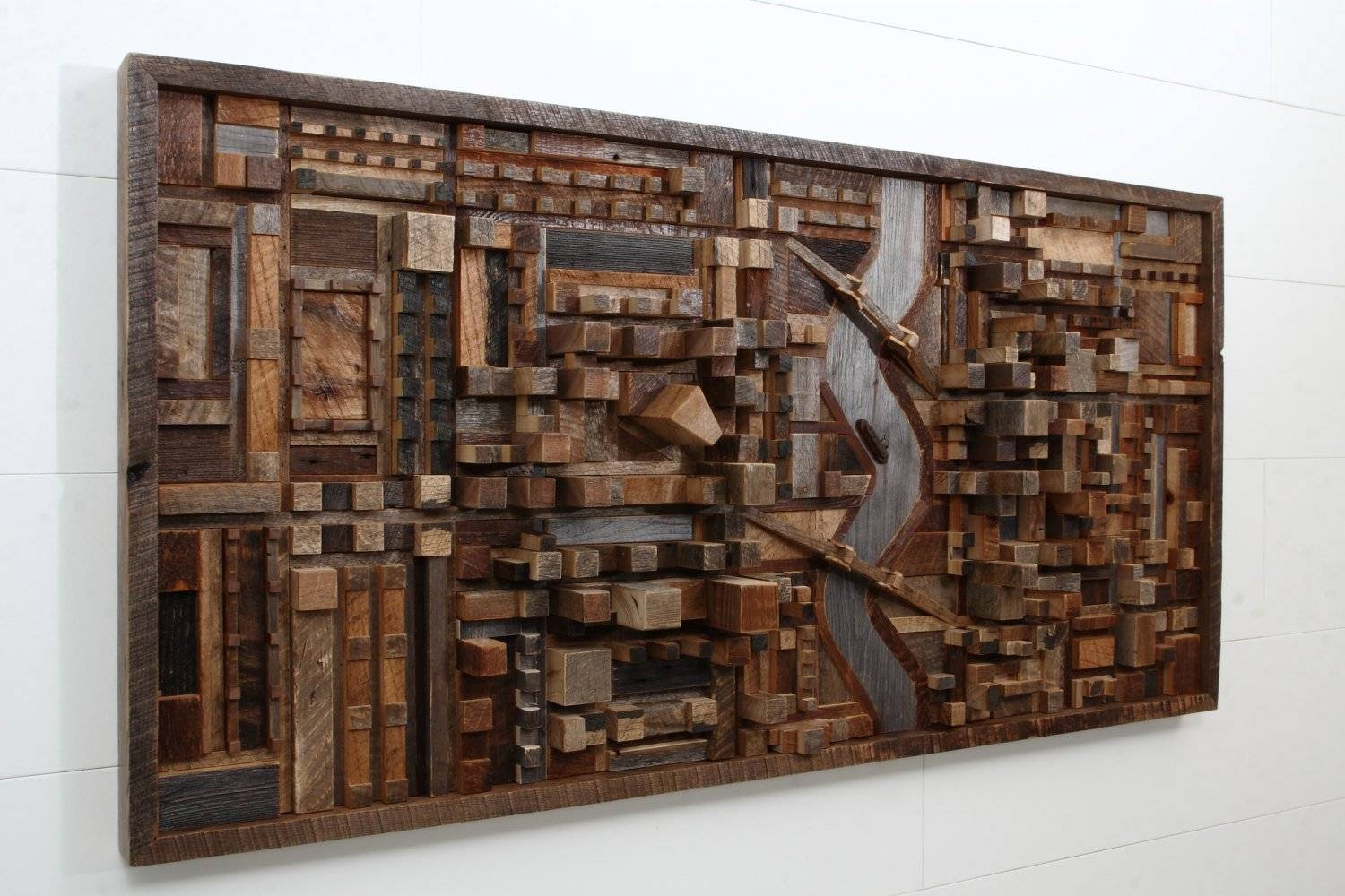 Outstanding Reclaimed Wood Wall Art – Style Motivation With Most Recent Scrap Metal Wall Art (View 10 of 20)