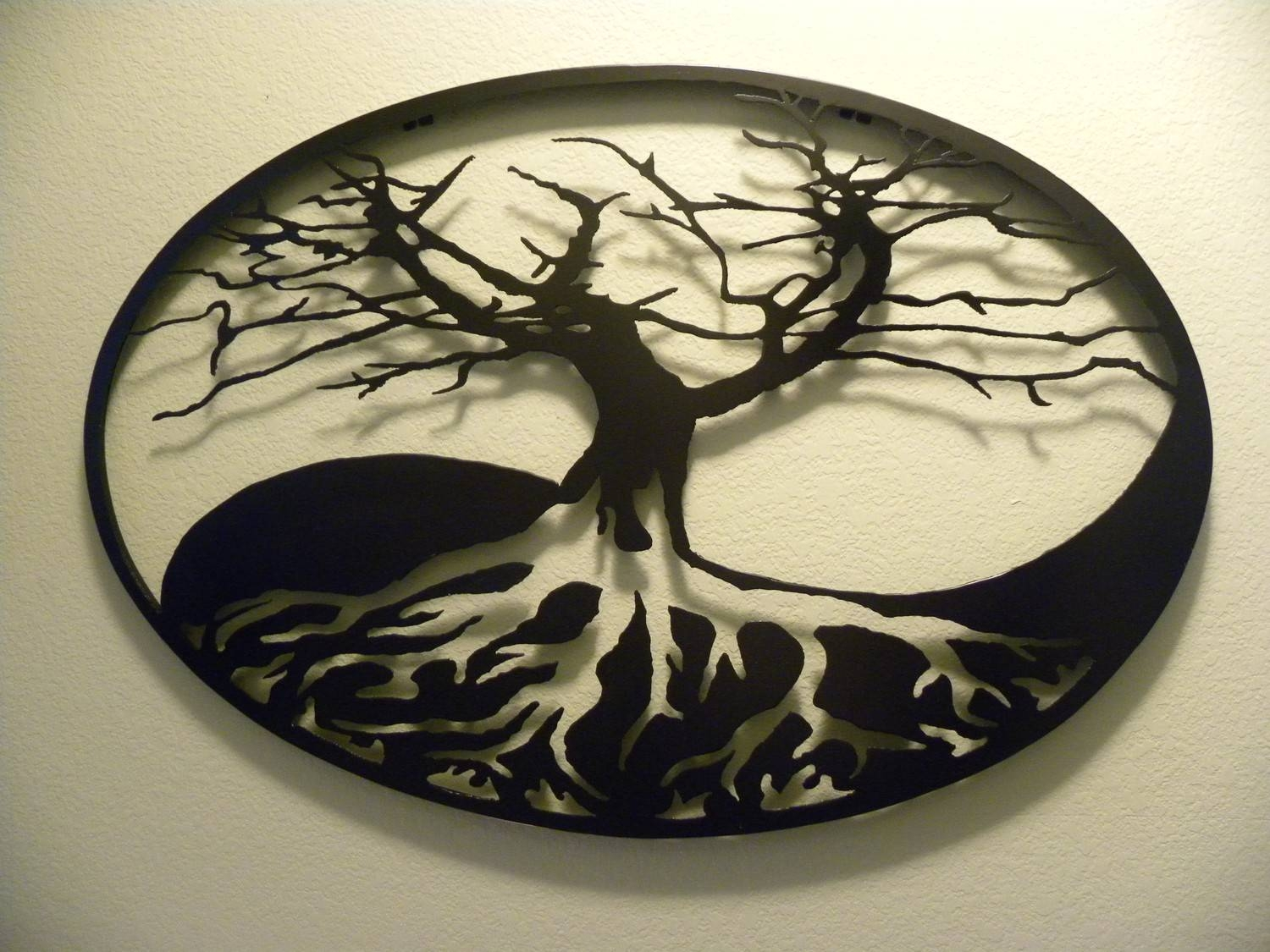 Oval Yin Yang Tree Of Life Metal Wall Art Intended For Most Popular Tree Of Life Metal Wall Art (View 10 of 20)