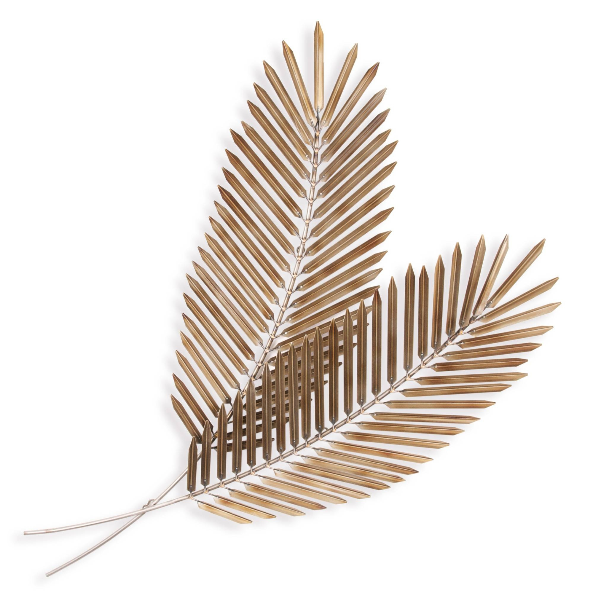 Palm Leaves Pair – Floral Metal Wall Art With Regard To Recent Leaf Metal Wall Art (View 14 of 20)