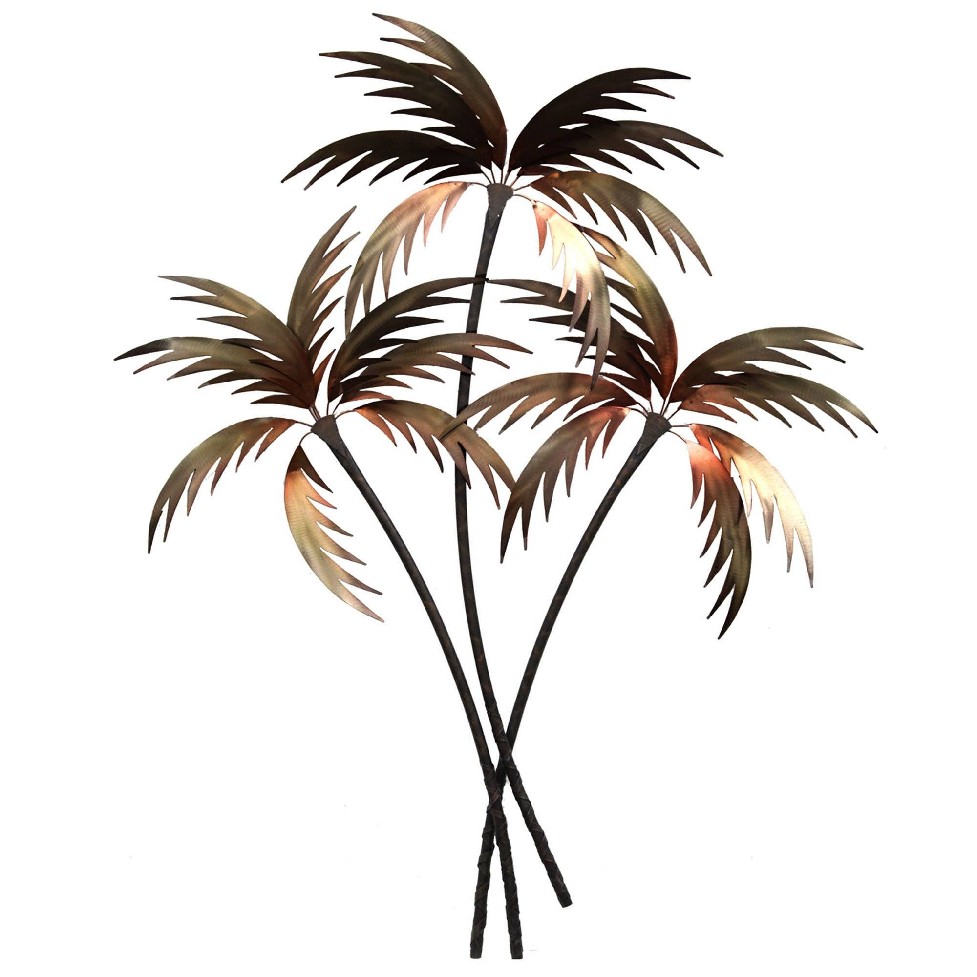 Palm Tree Wall Art, Palm Tree Bedroom Decor Palm Tree Metal With Regard To 2018 Metal Wall Art Palm Trees (View 3 of 20)