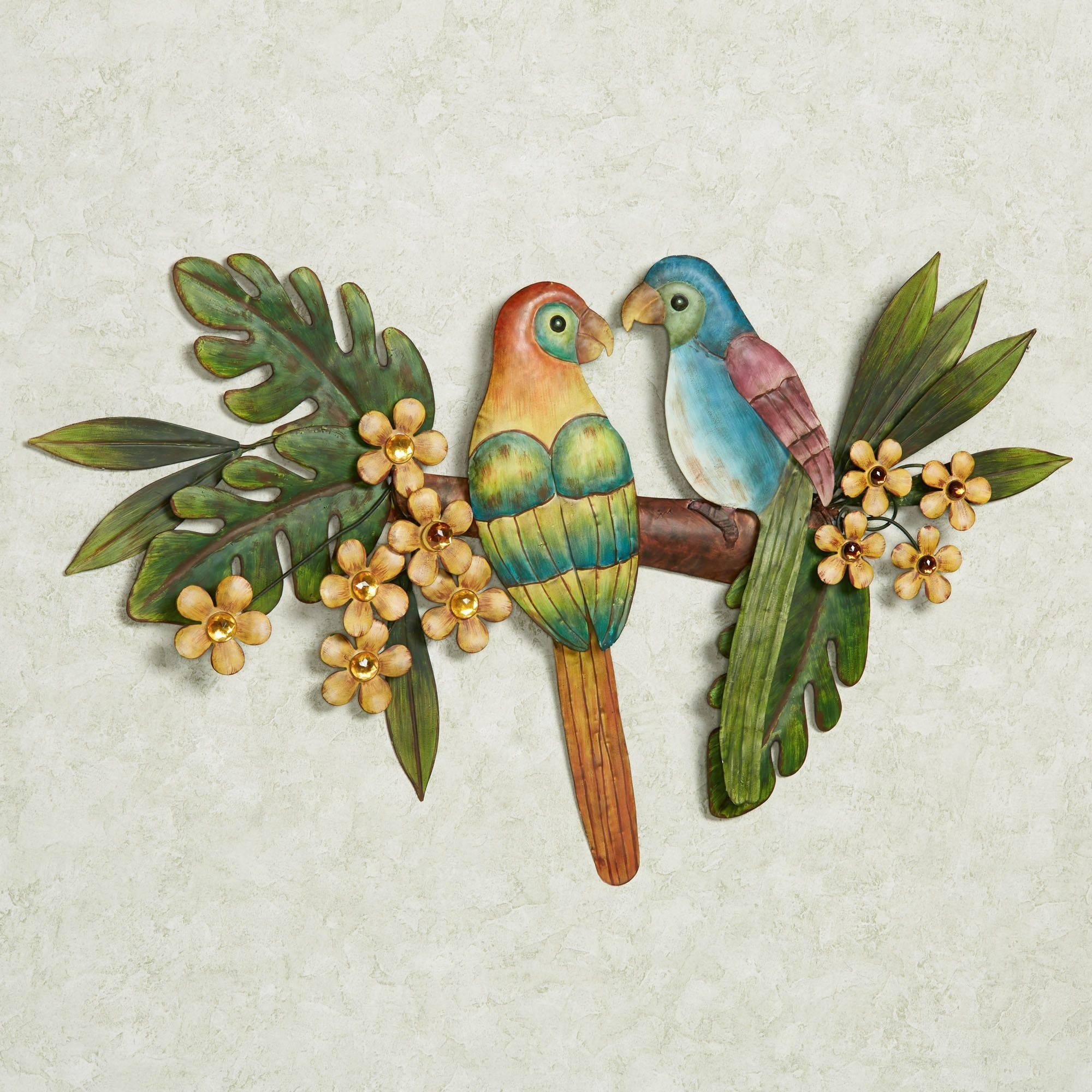 Paradise Perch Tropical Bird Metal Wall Art With Regard To Most Recent Birds Metal Wall Art (View 2 of 20)