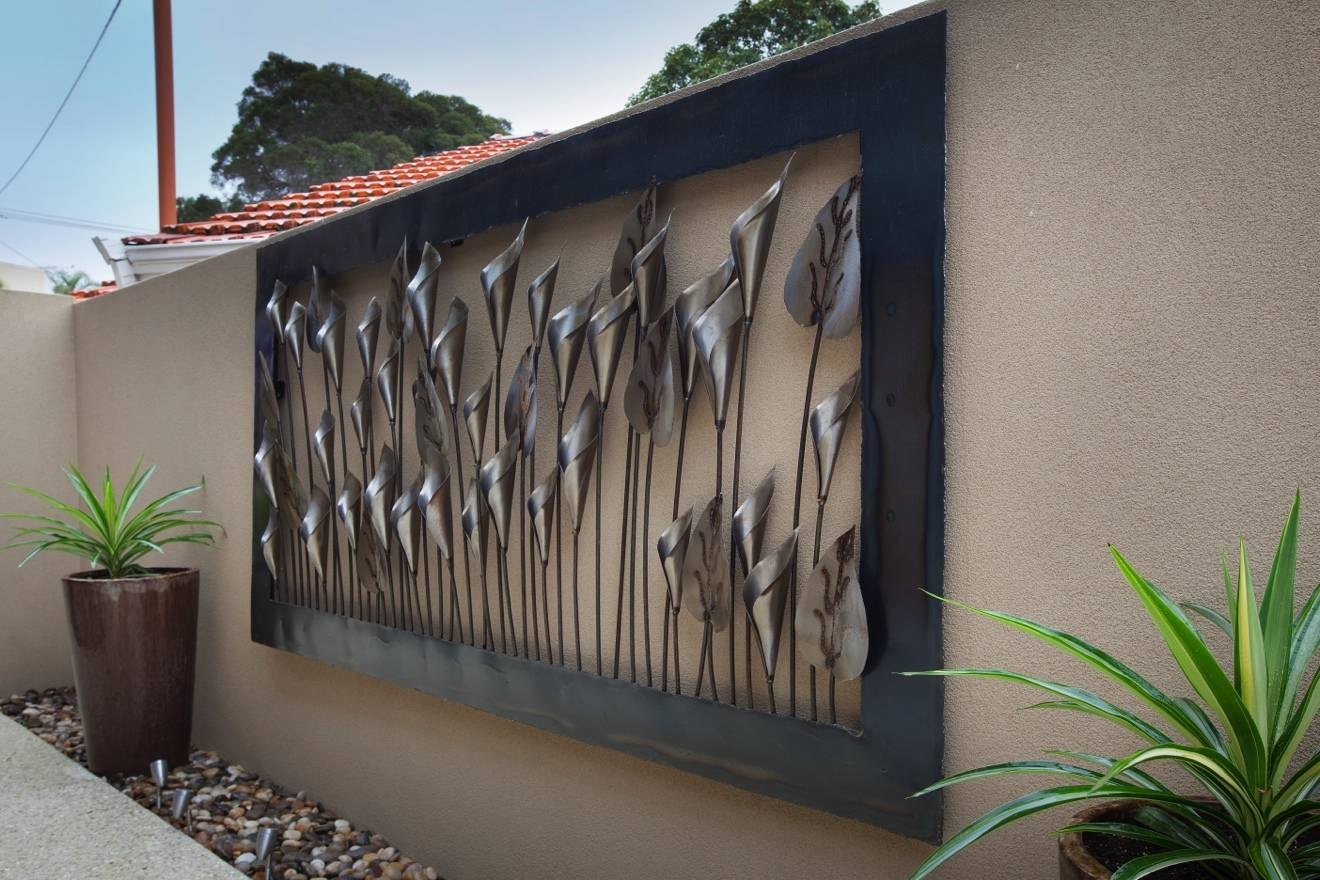 Patio Wall Decor Large Outdoor Wall Art Exterior Wall Art Outdoor within Most Popular Large Outdoor Metal Wall Art