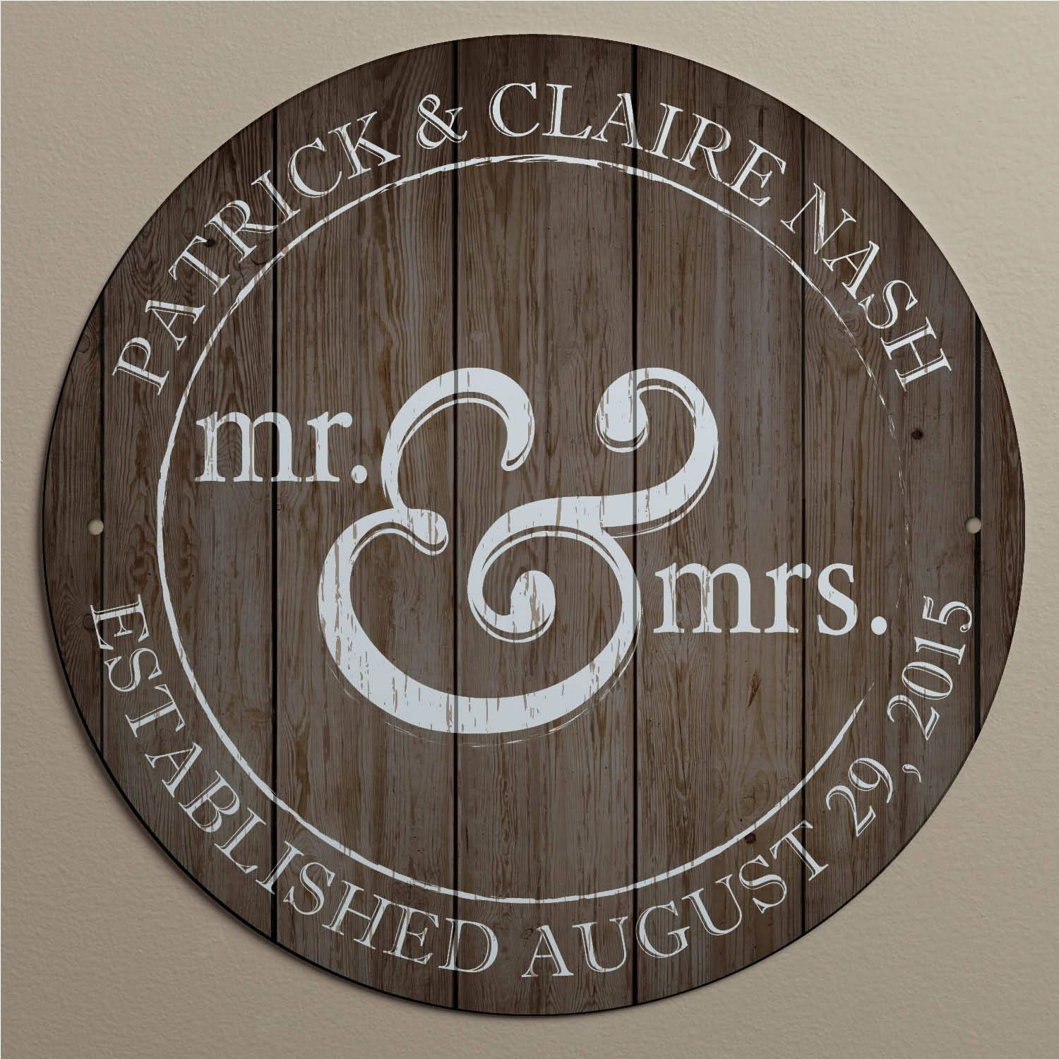 Personalized Mr. And Mrs (View 5 of 20)