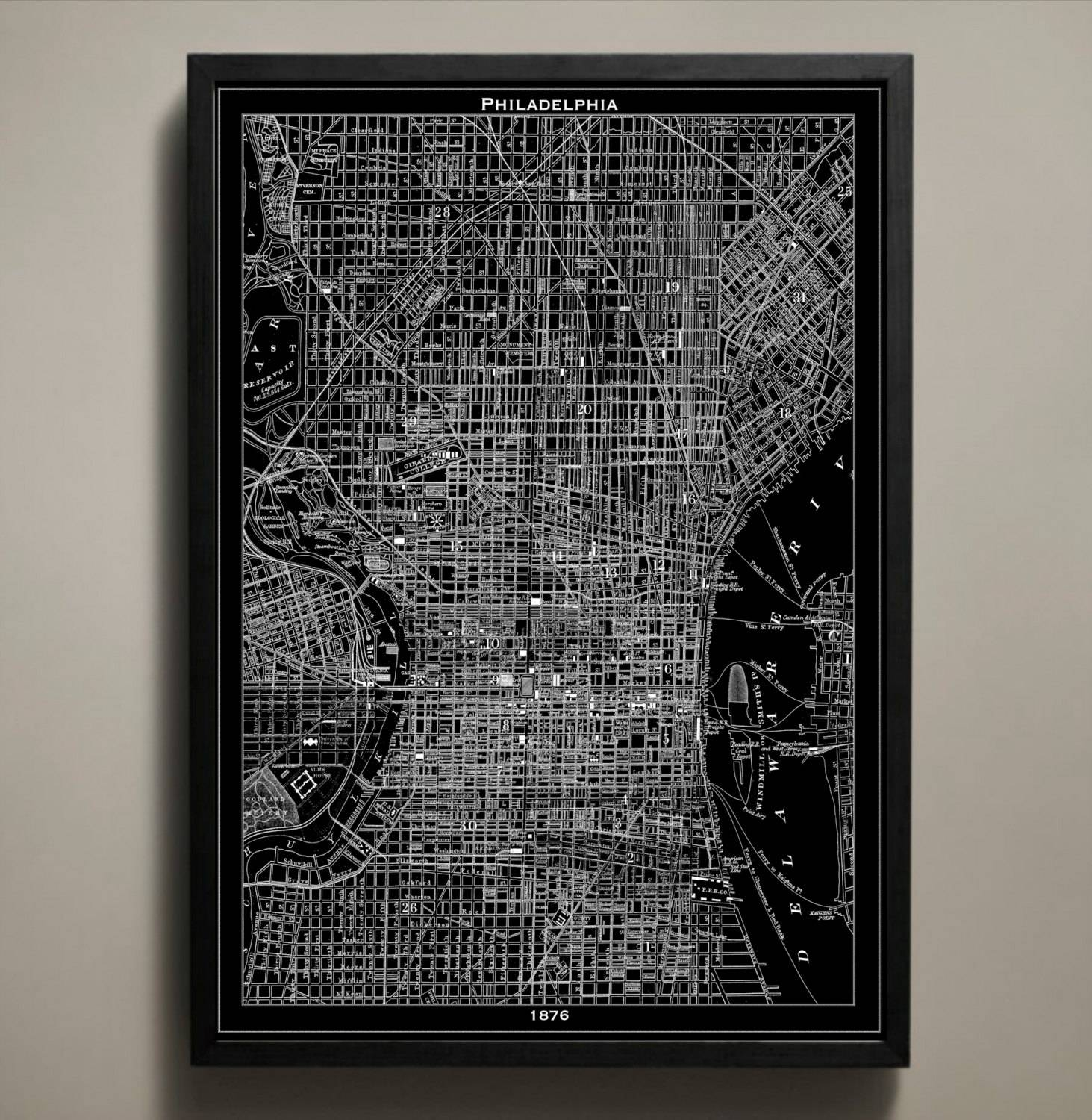 Featured Photo of Philadelphia Map Wall Art