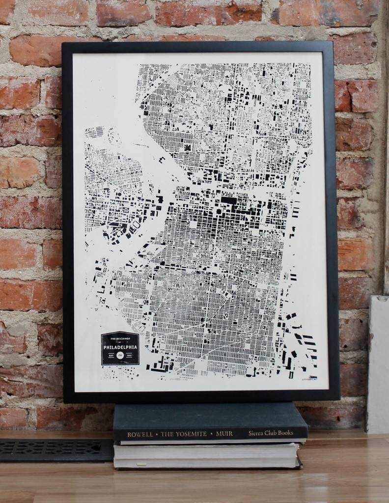 Philadelphia Themed Dorm Room Decor – The Ocm Blog Pertaining To Current Philadelphia Map Wall Art (View 18 of 20)