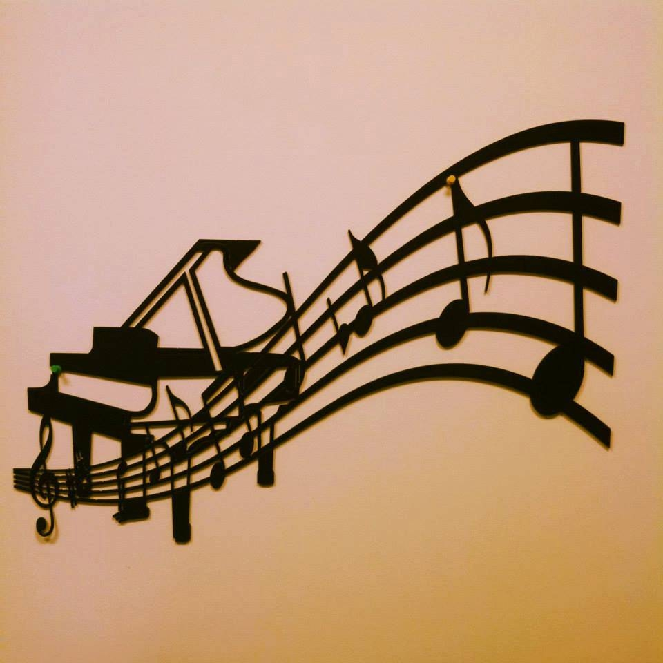 Piano And Sheet Music Metal Wall Art intended for 2018 Musical Metal Wall Art