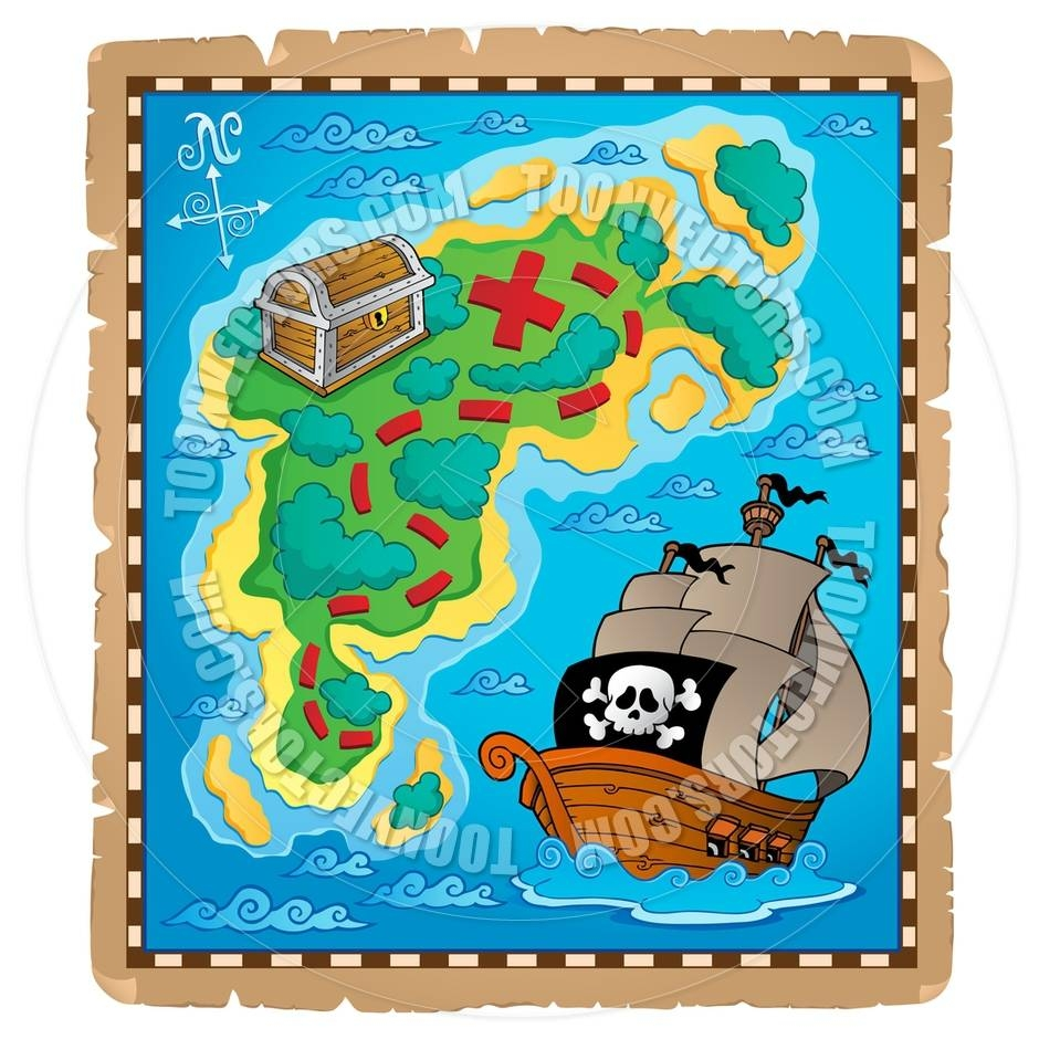 Pictures Of A Pirate Map | Free Download Clip Art | Free Clip Art Pertaining To Most Recent Treasure Map Wall Art (View 13 of 20)