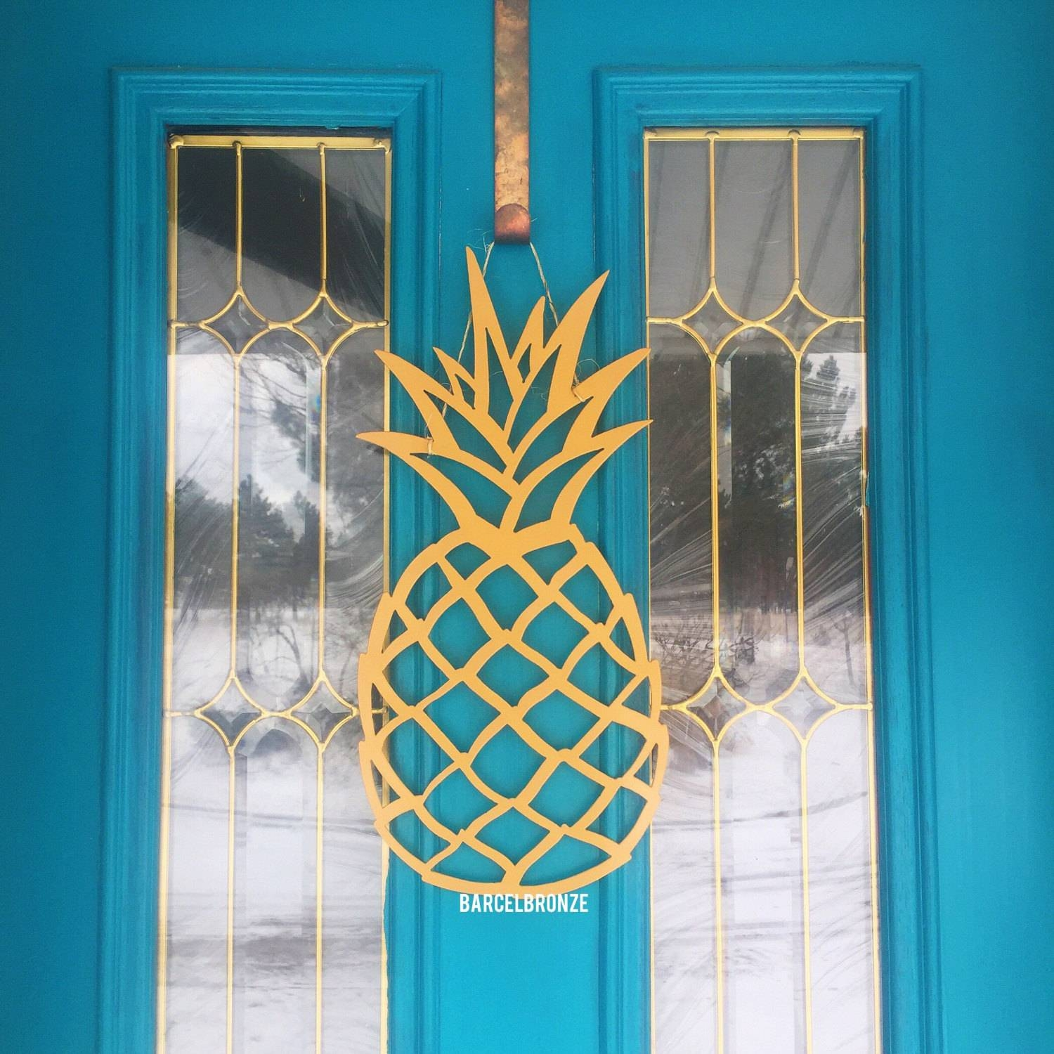 Pineapple Decor Metal Signs Pineapple Wall Art Pineapple Within Most Popular Pineapple Metal Wall Art (View 4 of 20)