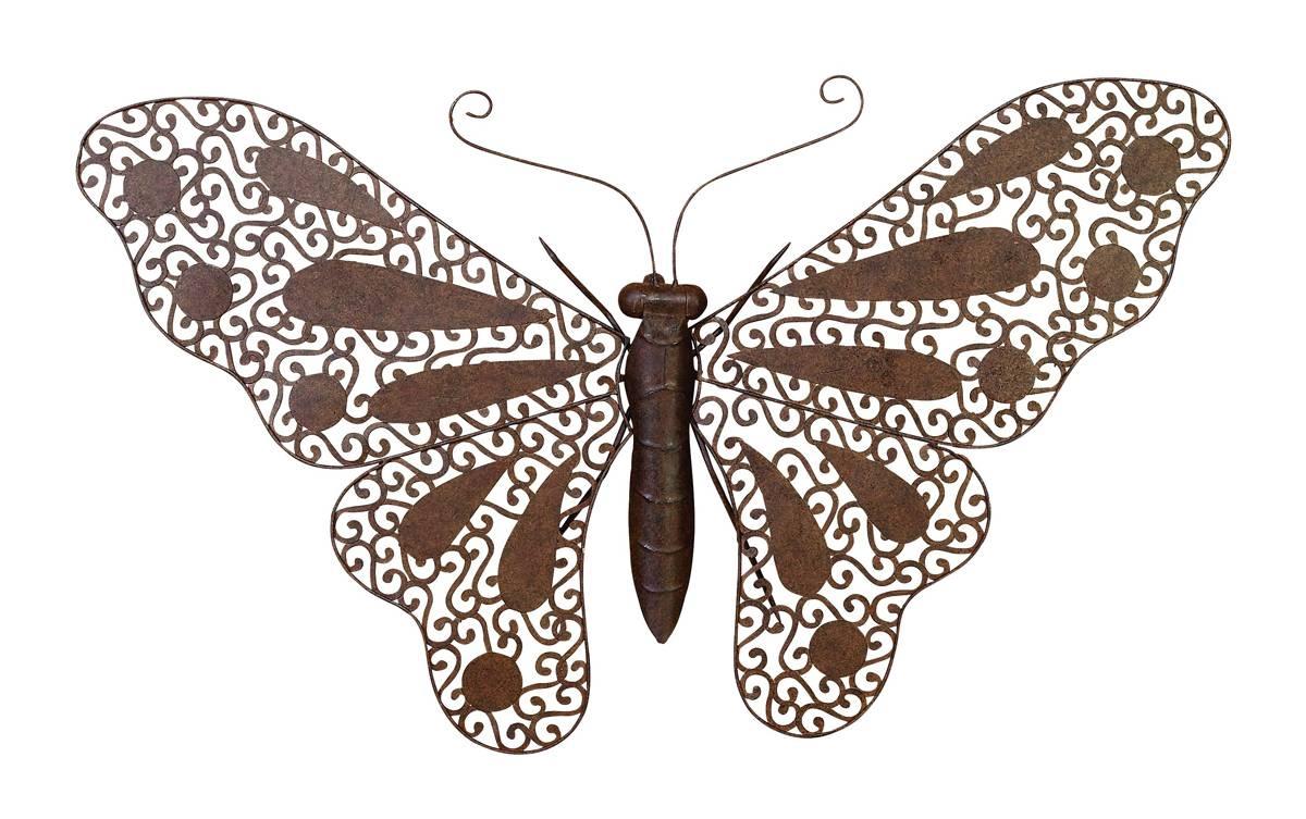 Pop Art Butterfly Metal Decor for Latest Butterfly Metal Wall Art